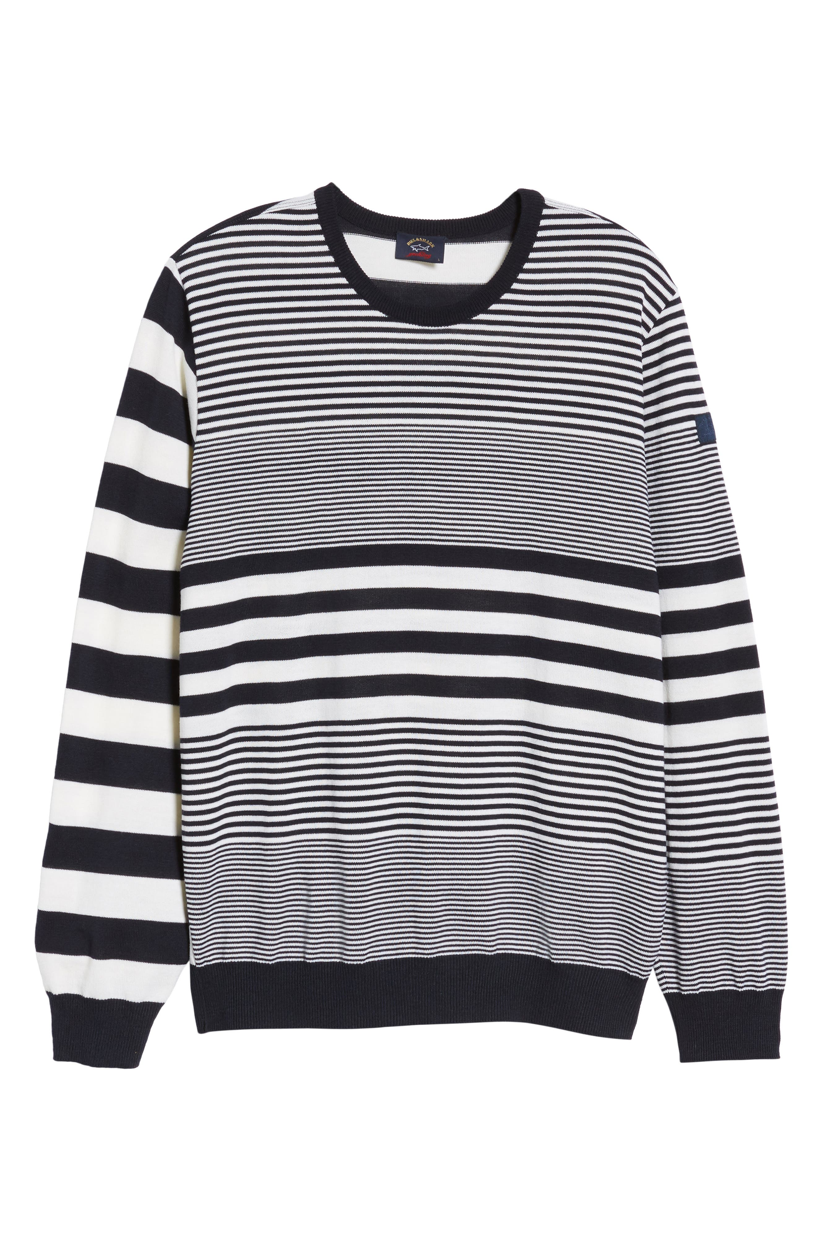 Paul&Shark Stripe Wool Sweater,                             Alternate thumbnail 6, color,                             115