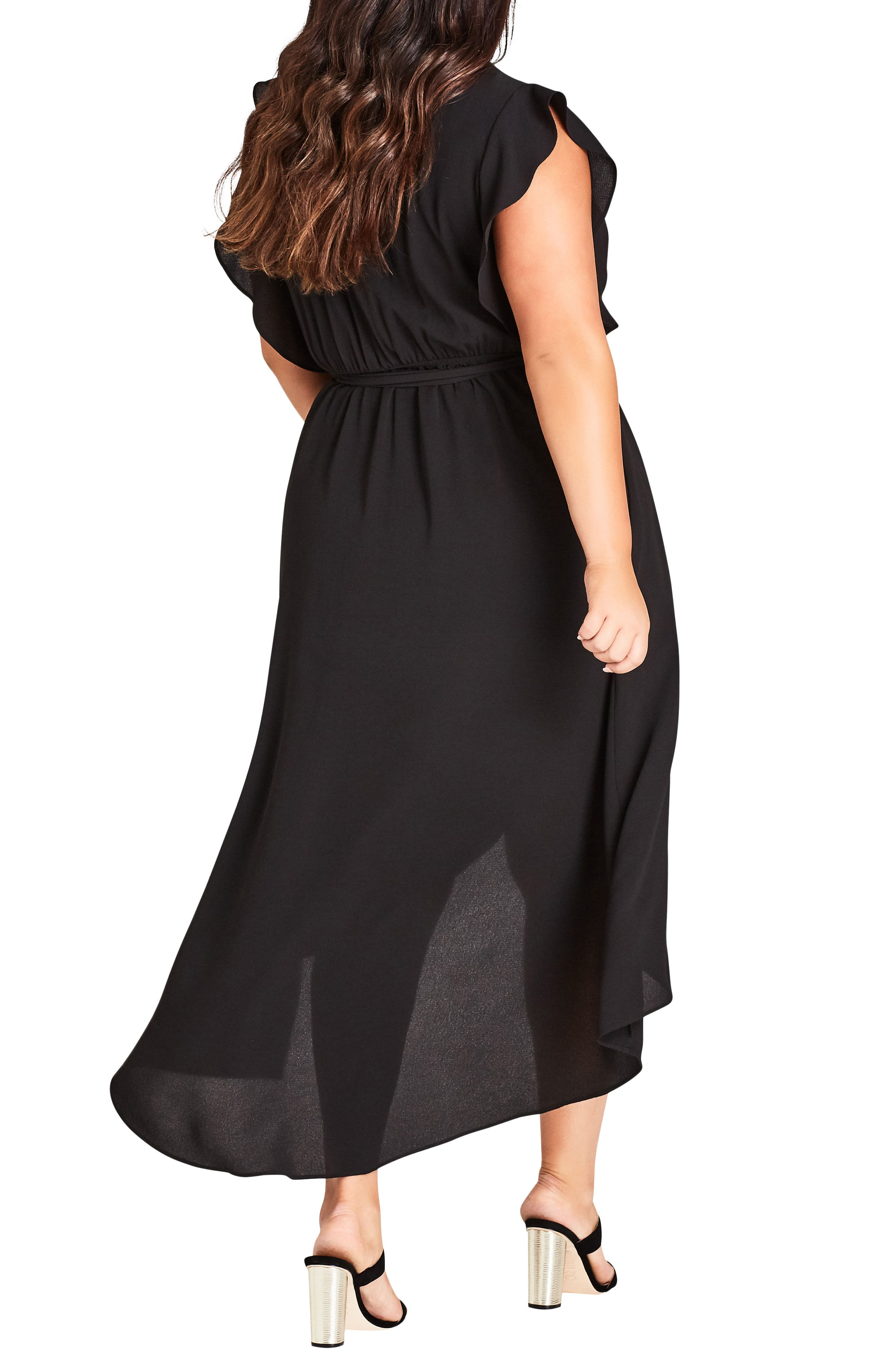 Lolita High/Low Maxi Dress,                             Alternate thumbnail 2, color,                             BLACK