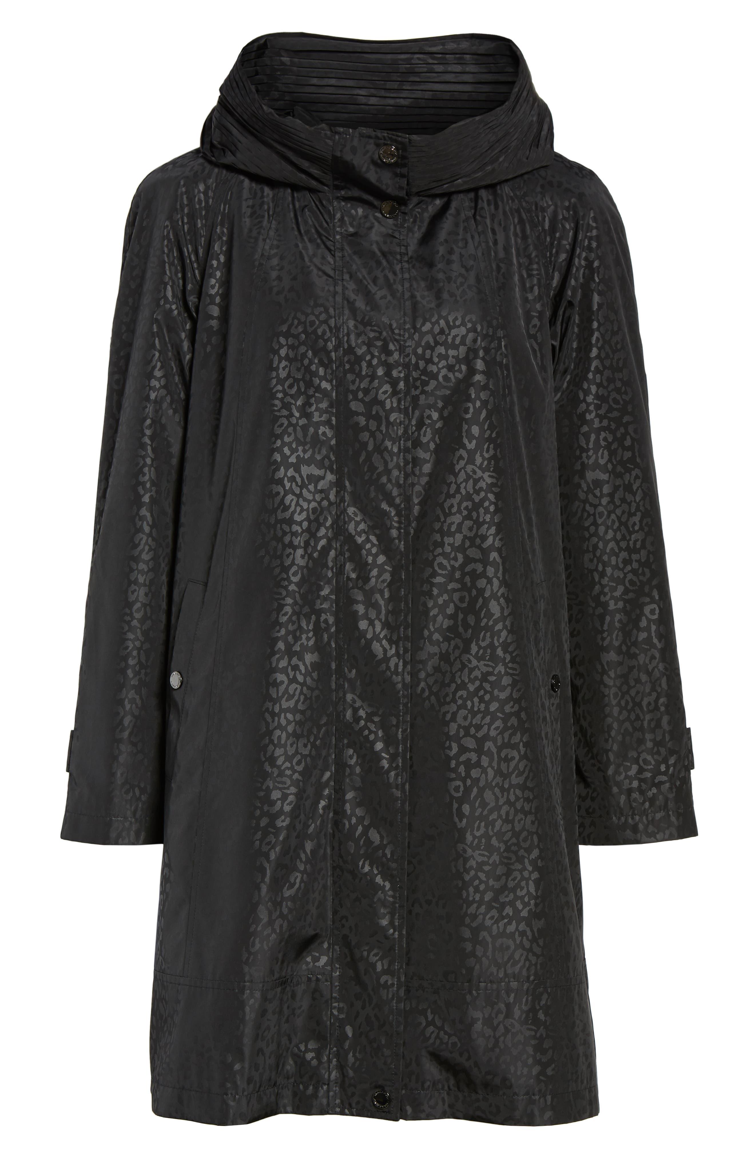 GALLERY,                             Pleated Collar Raincoat,                             Alternate thumbnail 6, color,                             200