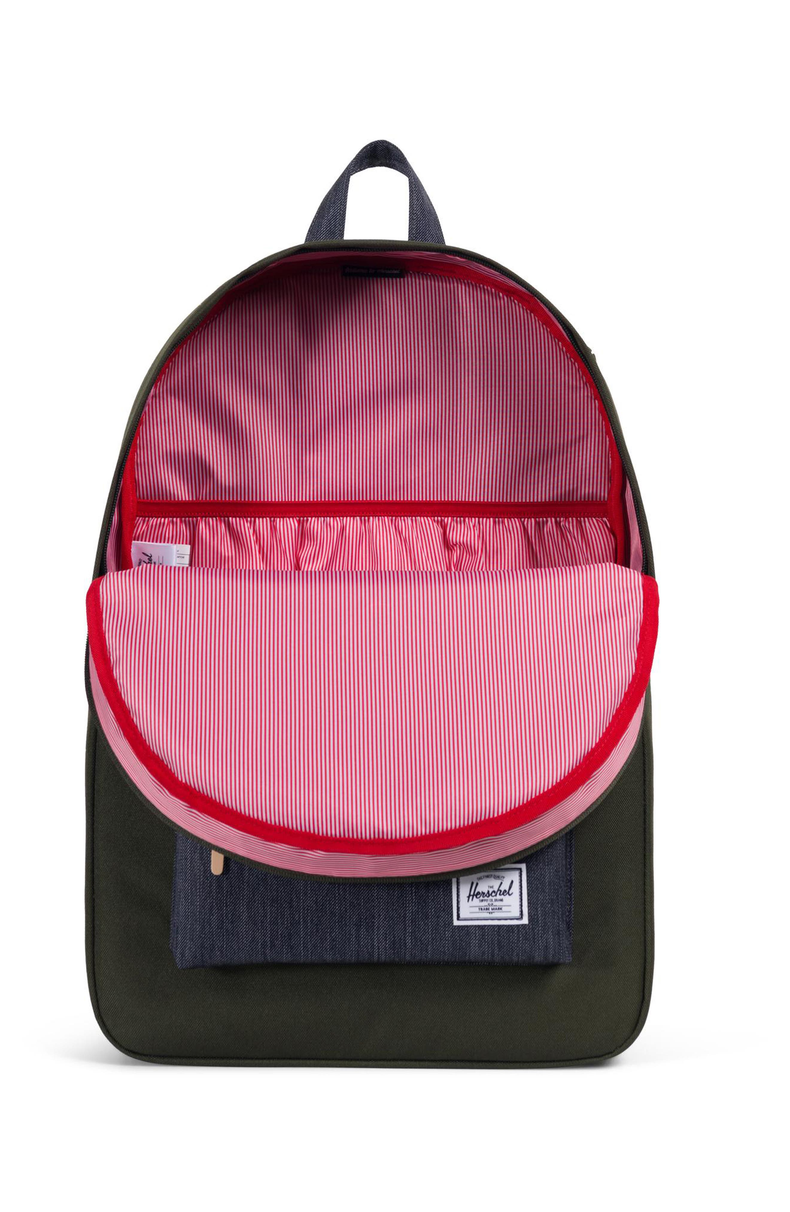 Heritage Offset Denim Backpack,                             Alternate thumbnail 3, color,                             FOREST NIGHT/ DARK DENIM