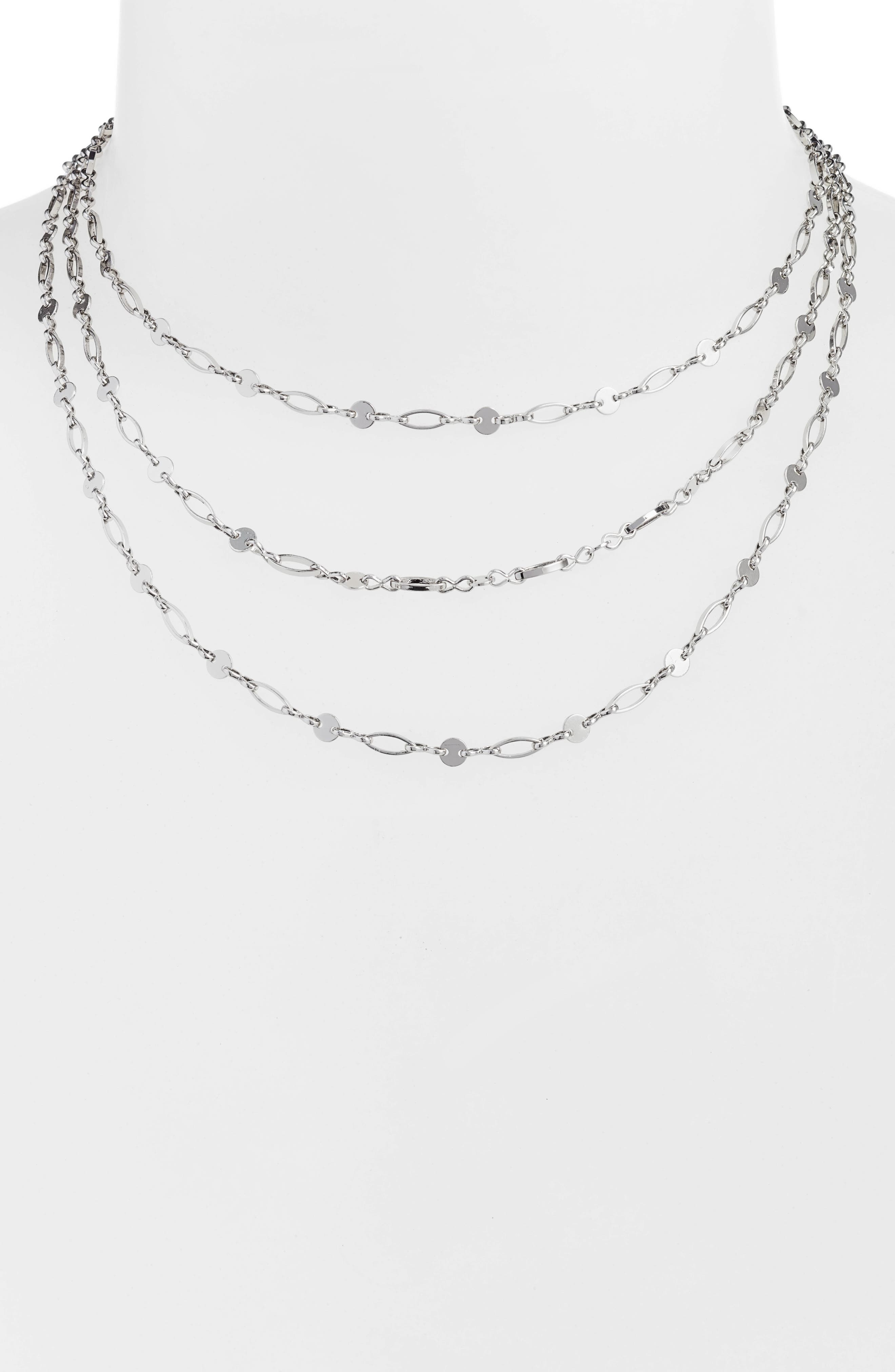 Aphrodite Layered Necklace,                         Main,                         color,