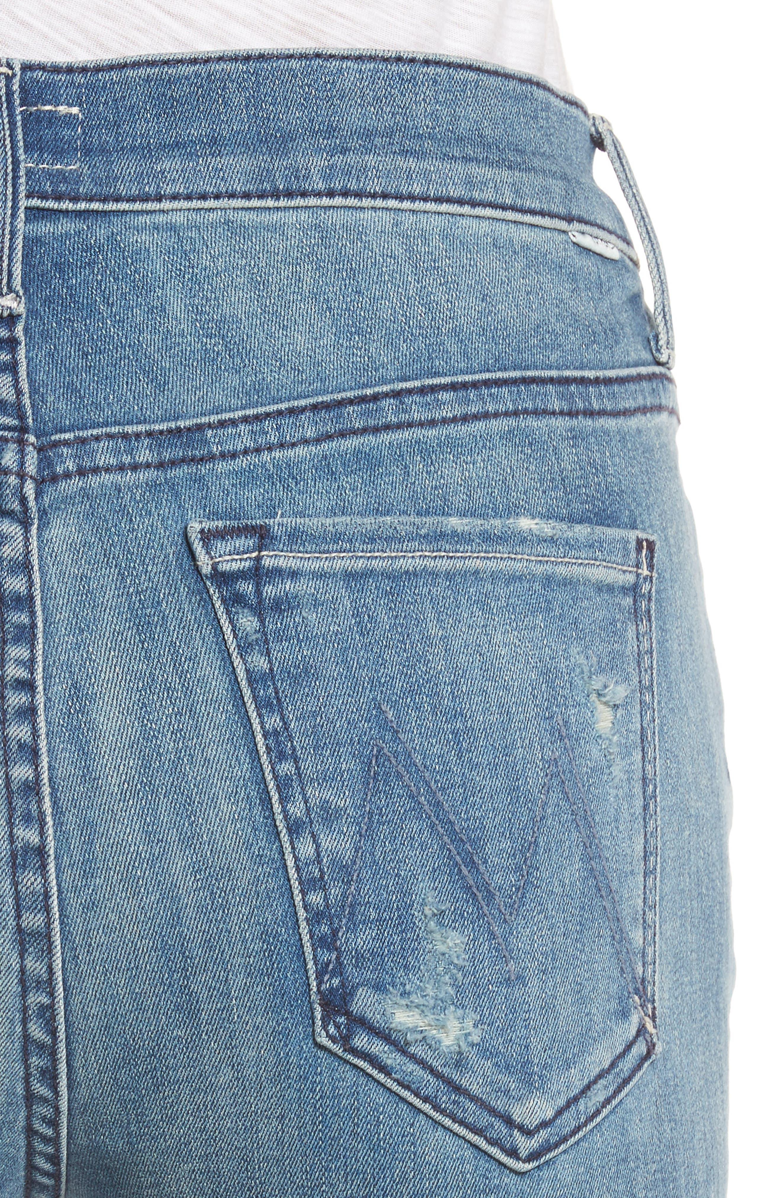 The Stunner Frayed Ankle Skinny Jeans,                             Alternate thumbnail 4, color,                             GRAFITTI GIRL