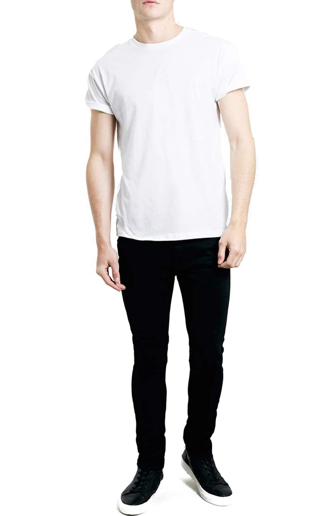 Skinny Stretch Jeans,                             Alternate thumbnail 6, color,                             BLACK