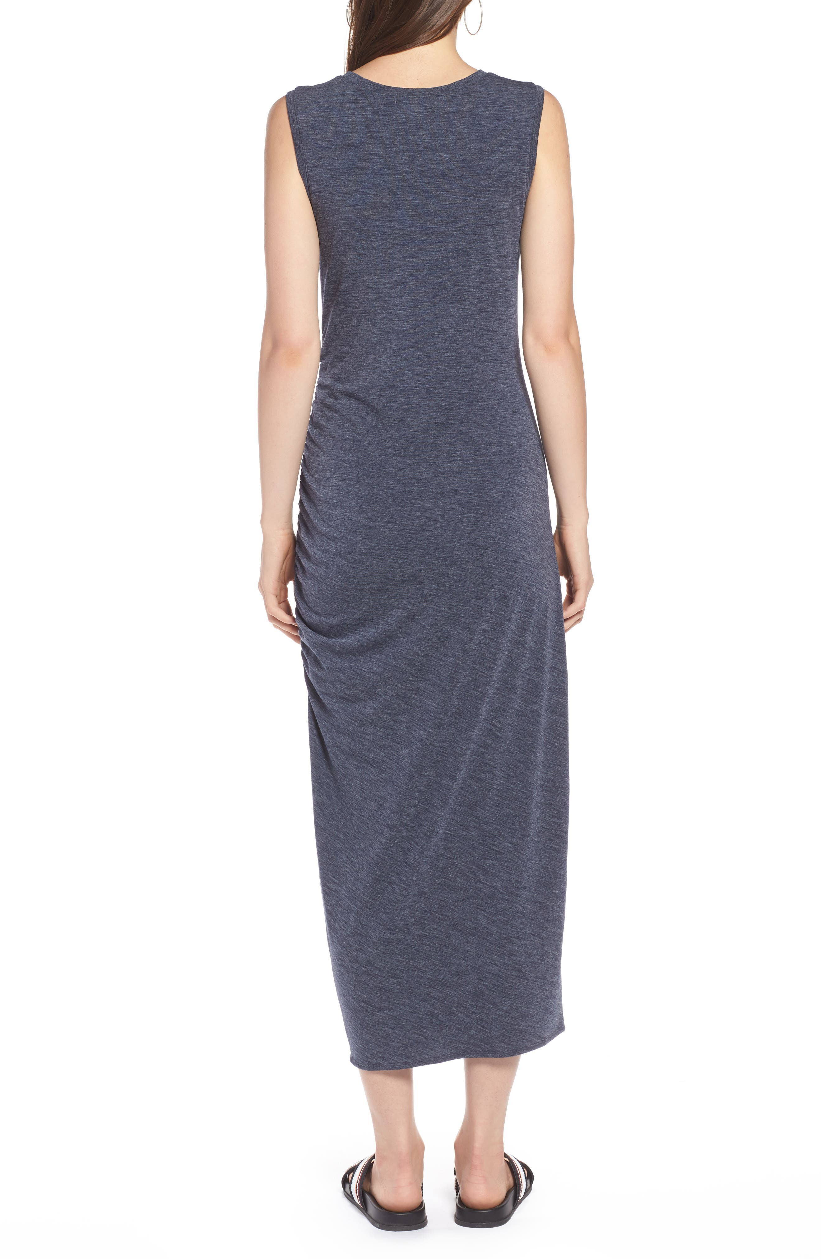 Sleeveless Side Ruched Dress,                             Alternate thumbnail 2, color,                             410