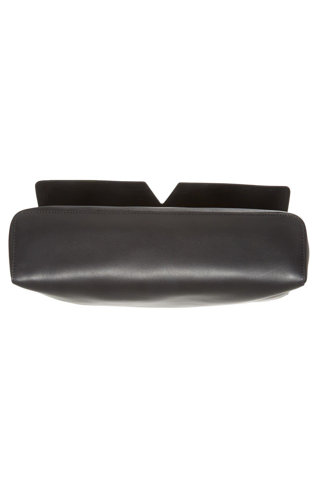 'Signature Collection - Medium' Leather Messenger Bag,                             Alternate thumbnail 6, color,                             001