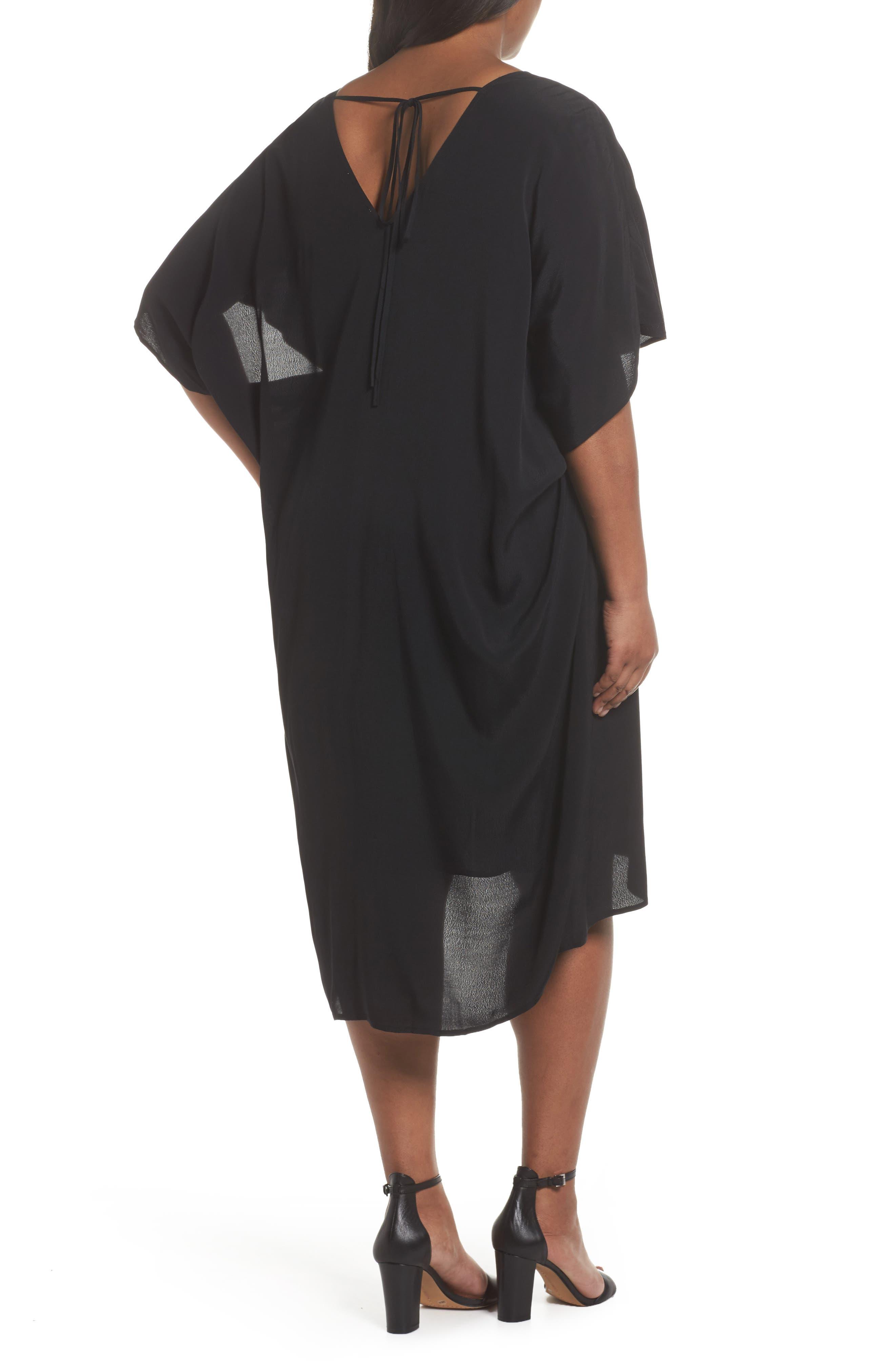 High/Low Caftan Dress,                             Alternate thumbnail 2, color,                             001