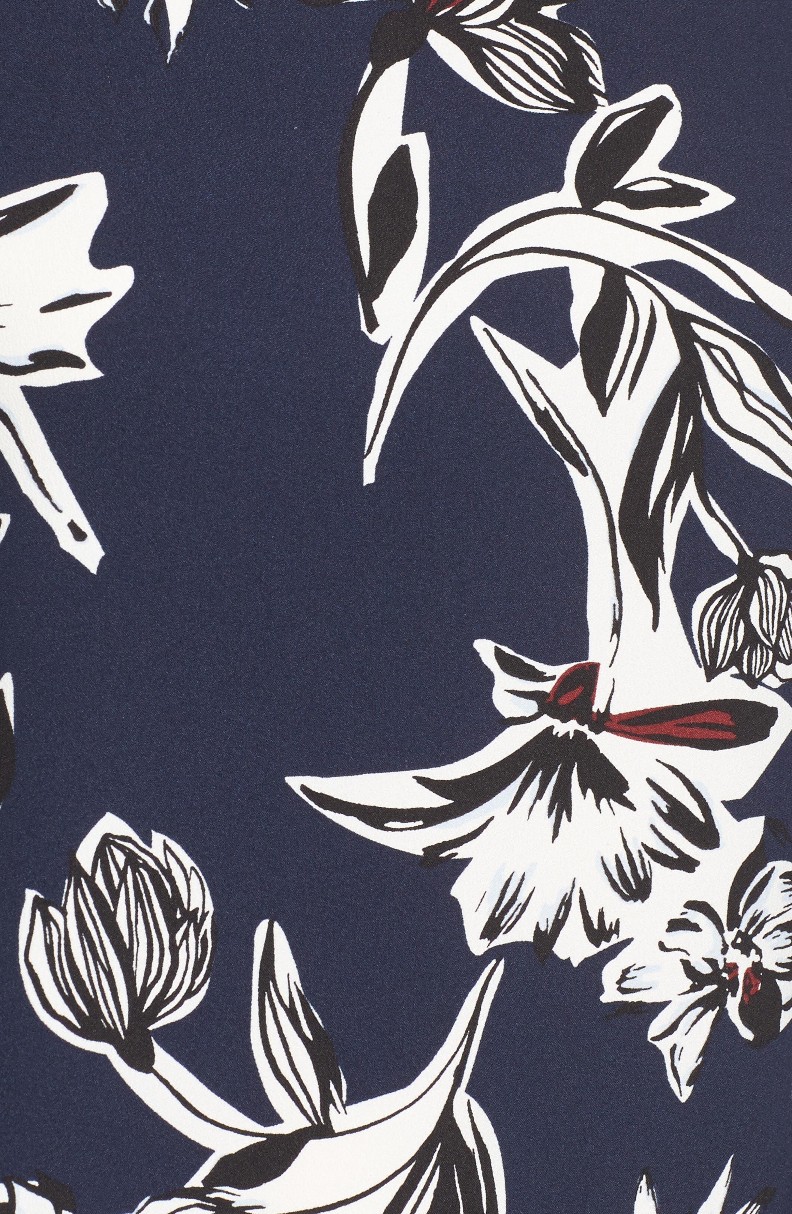 Bow Back Print Flare Sleeve Tunic,                             Alternate thumbnail 35, color,