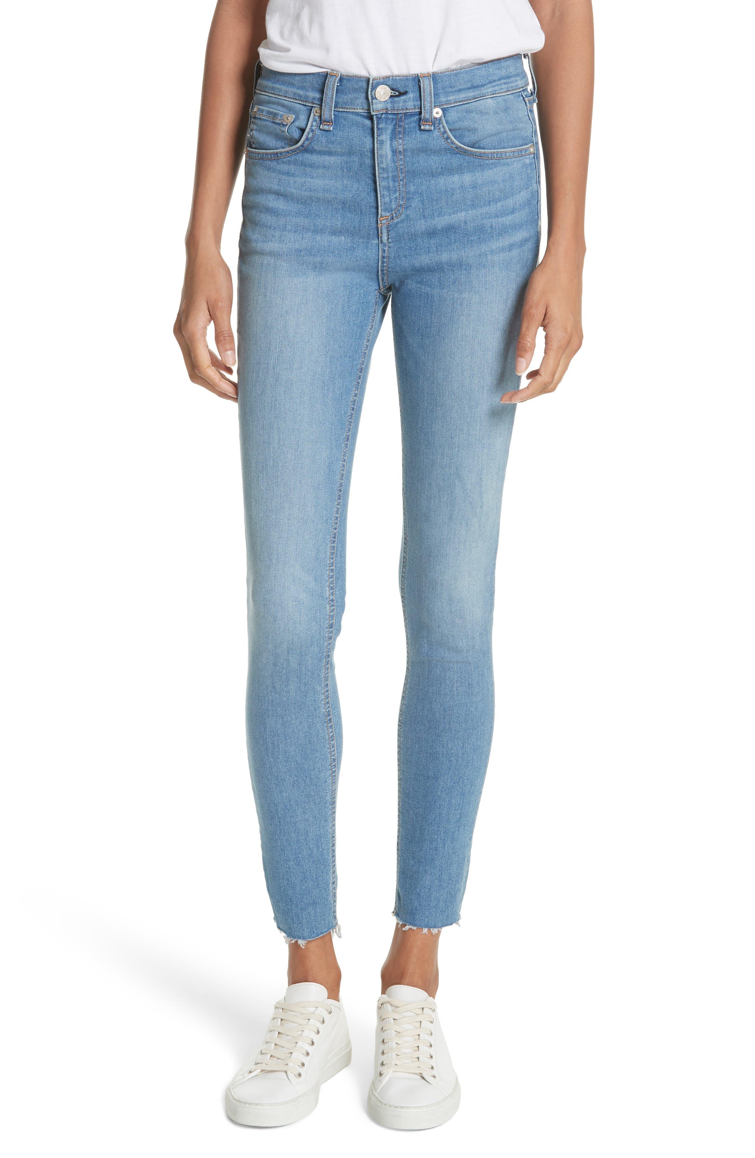 High Waist Skinny Jeans,                         Main,                         color,