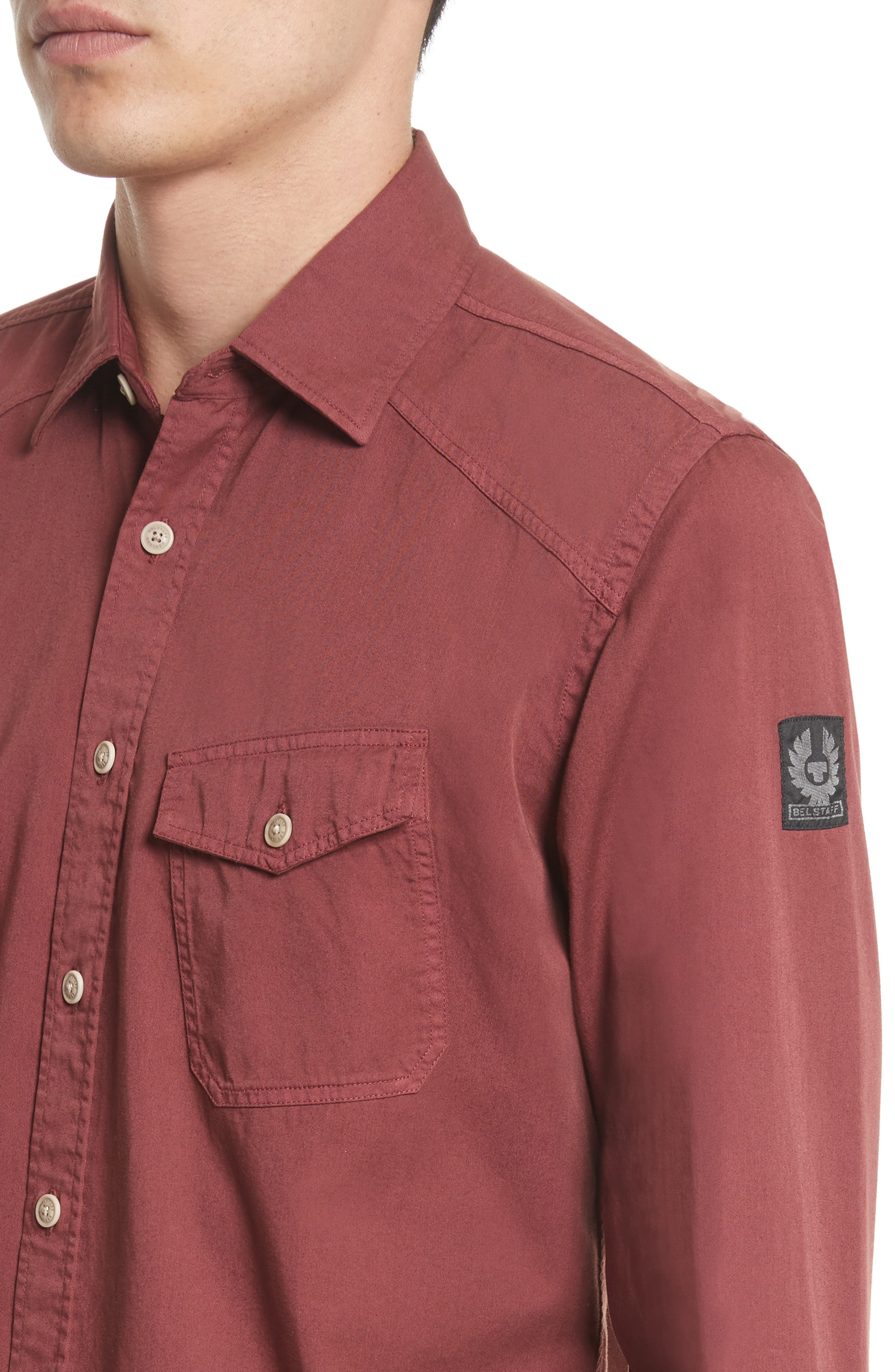 Steadway Extra Slim Fit Sport Shirt,                             Alternate thumbnail 24, color,