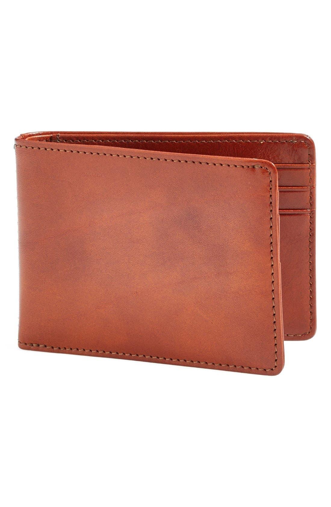 Small Bifold Wallet,                             Main thumbnail 1, color,                             AMBER
