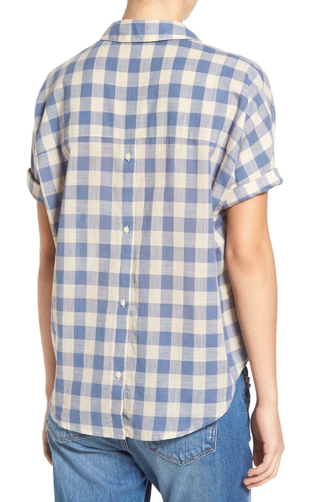 'Courier' Back Button Shirt,                             Alternate thumbnail 4, color,                             408