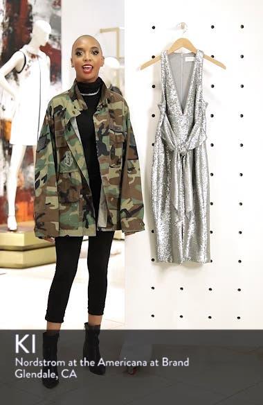 Plunge Neck Sequin Dress, sales video thumbnail