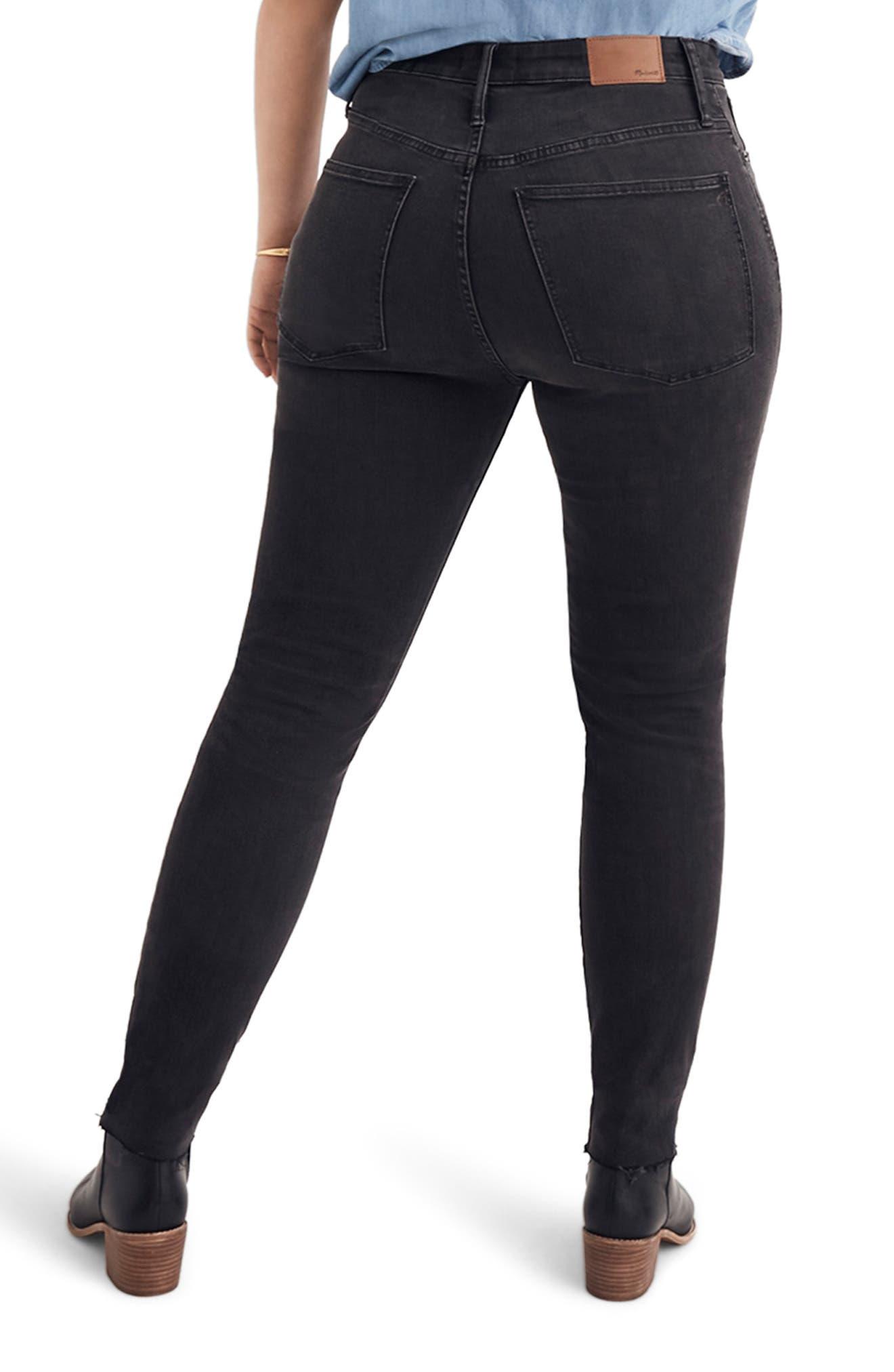 Curvy High Waist Skinny Jeans,                             Alternate thumbnail 7, color,                             BLACK SEA