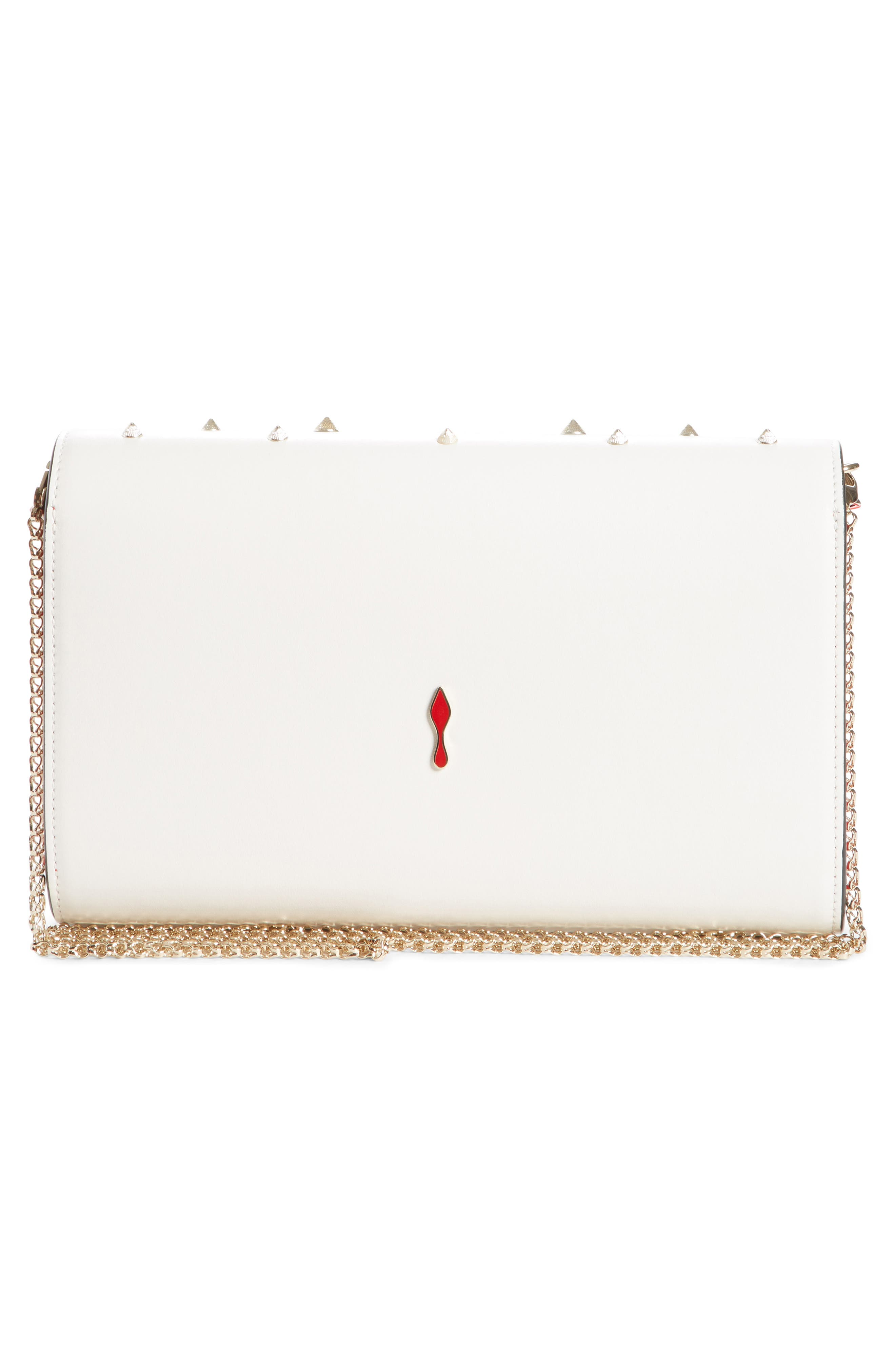 Paloma Spiked Calfskin Clutch,                             Alternate thumbnail 2, color,                             105