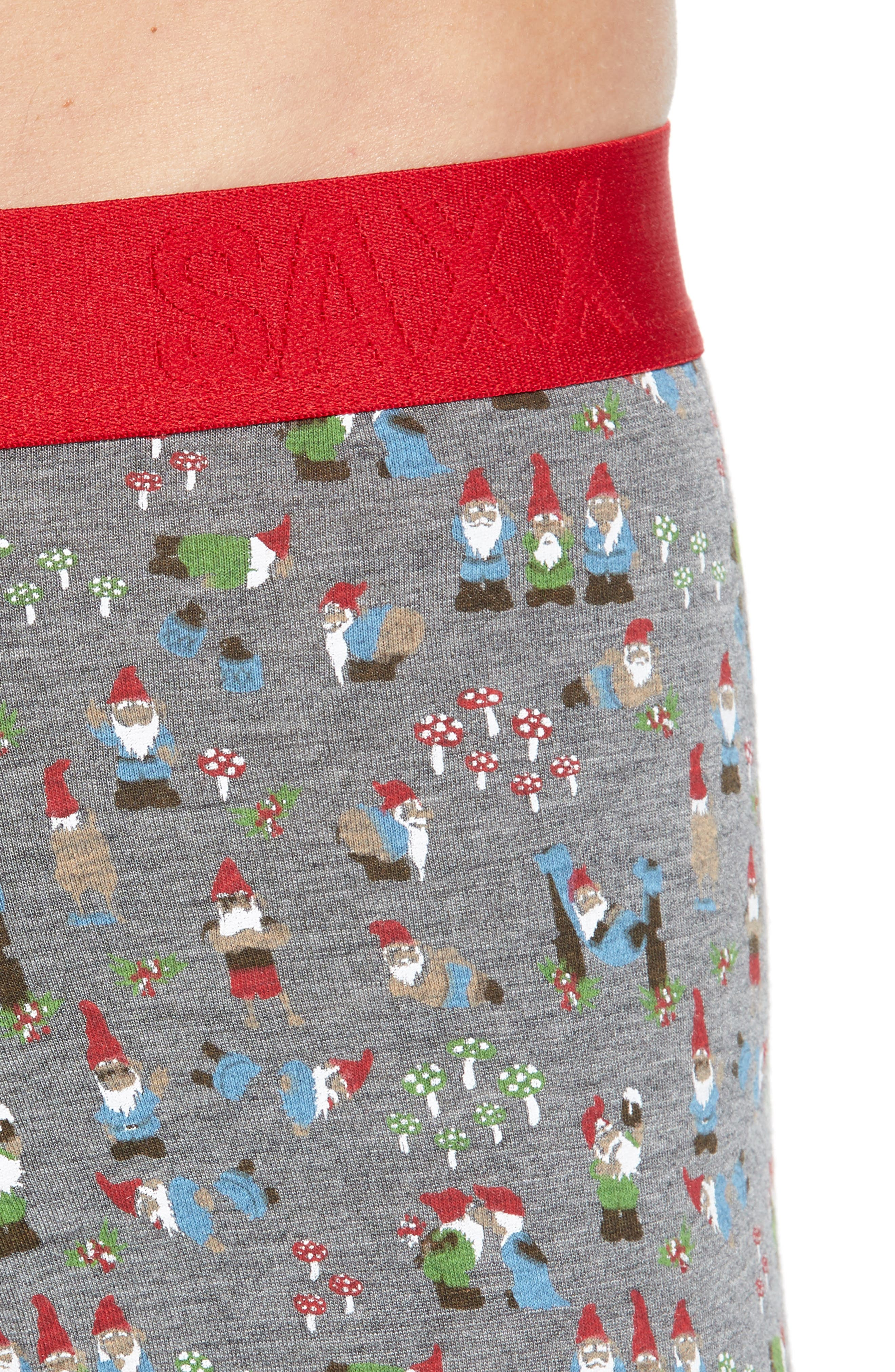 Ultra Naughty Gnomes Stretch Boxer Briefs,                             Alternate thumbnail 4, color,                             NAUGHTY GNOMES