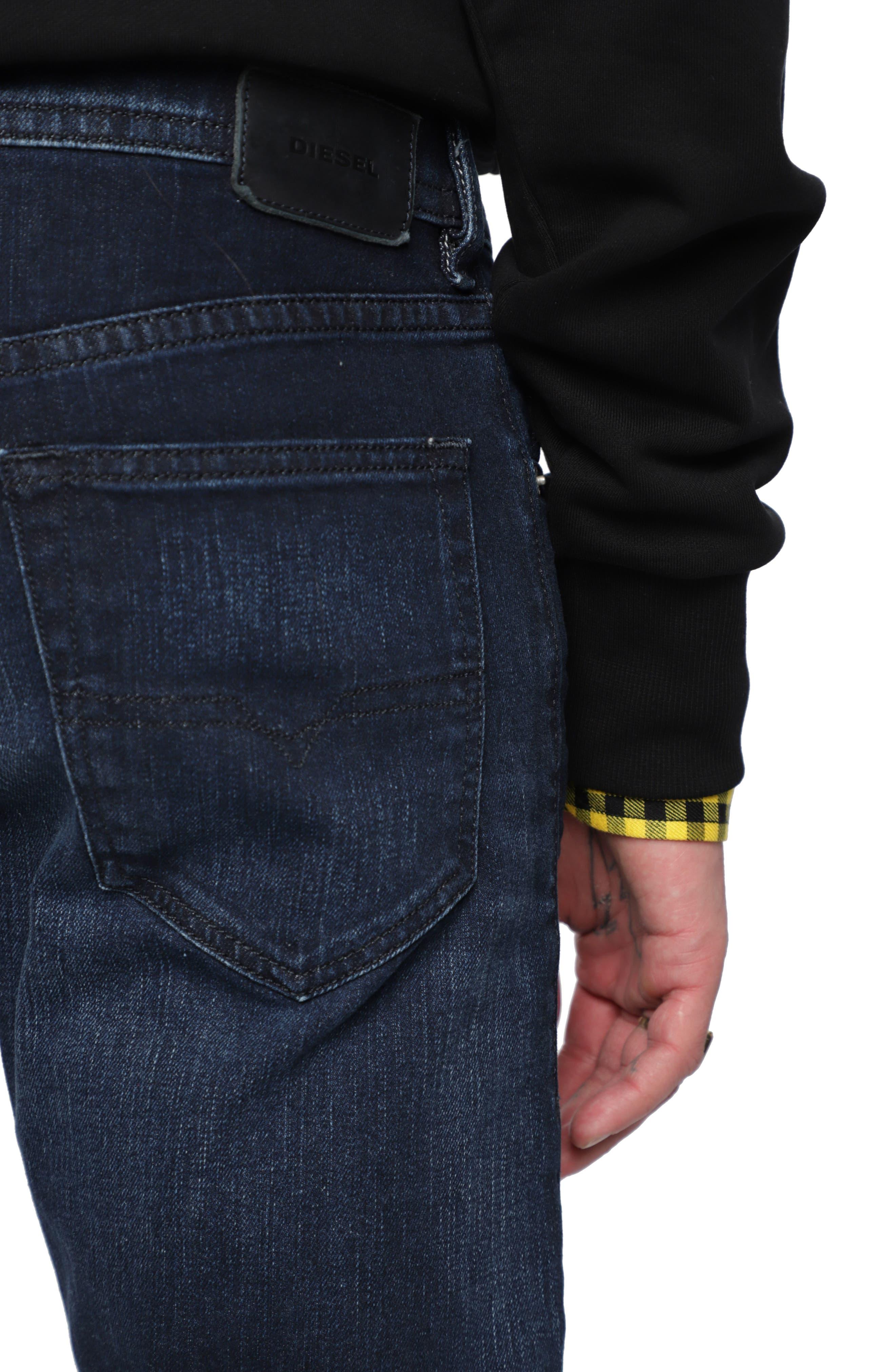 Buster Slim Straight Leg Jeans,                             Alternate thumbnail 4, color,                             400
