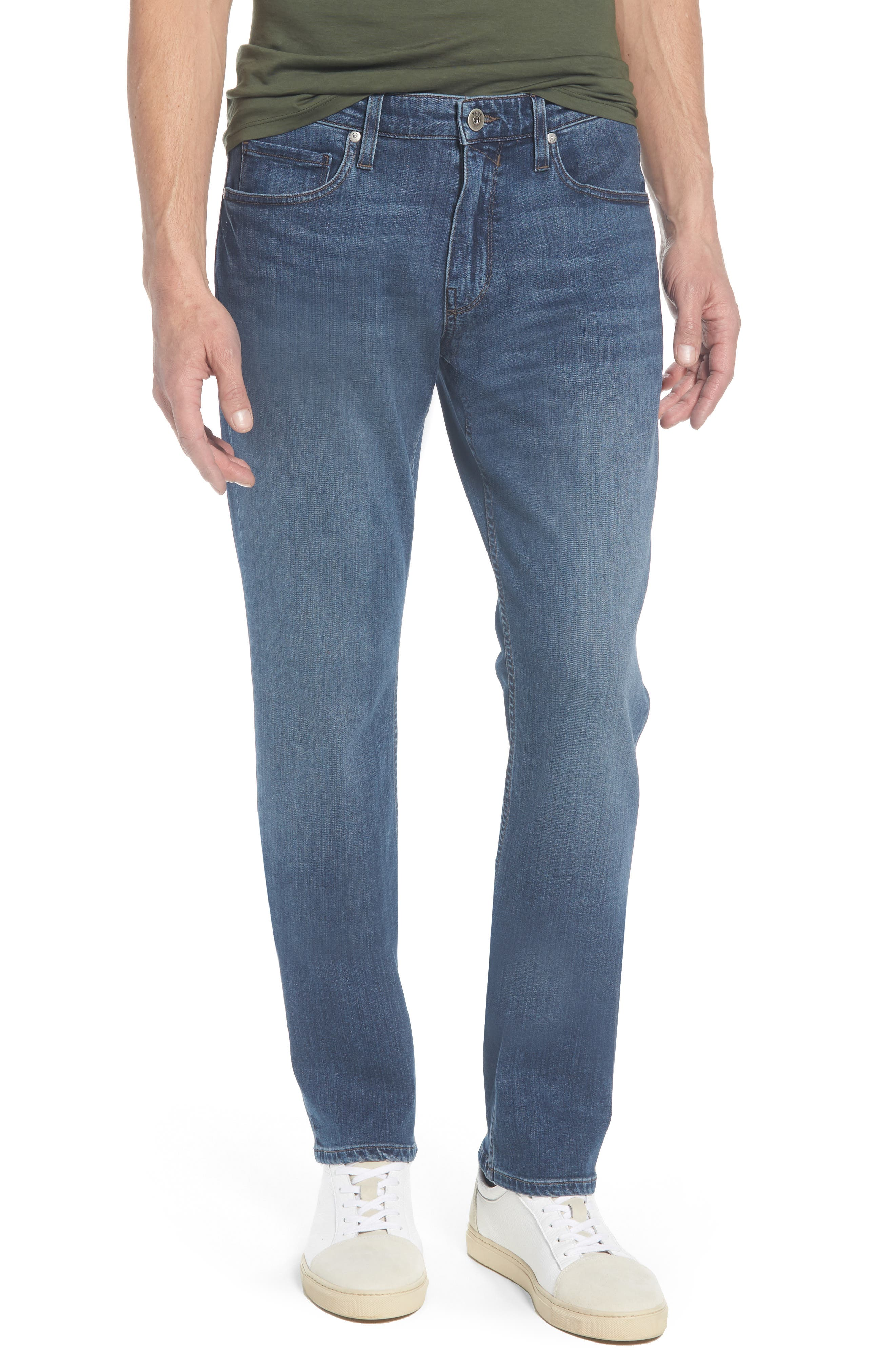 PAIGE Federal Slim Straight Leg Jeans, Main, color, 400
