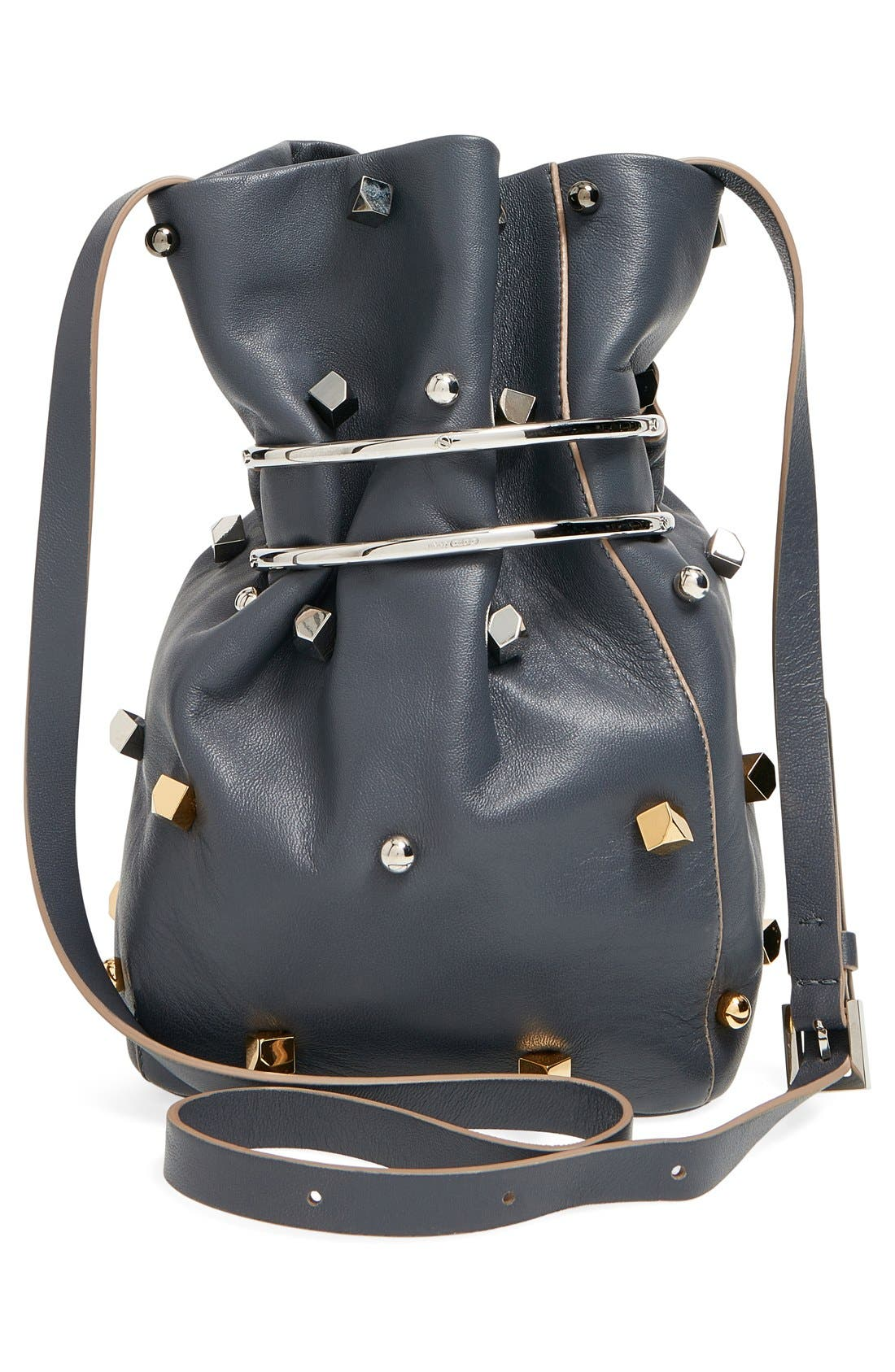 'Eve' Studded Bucket Bag,                             Alternate thumbnail 2, color,                             400