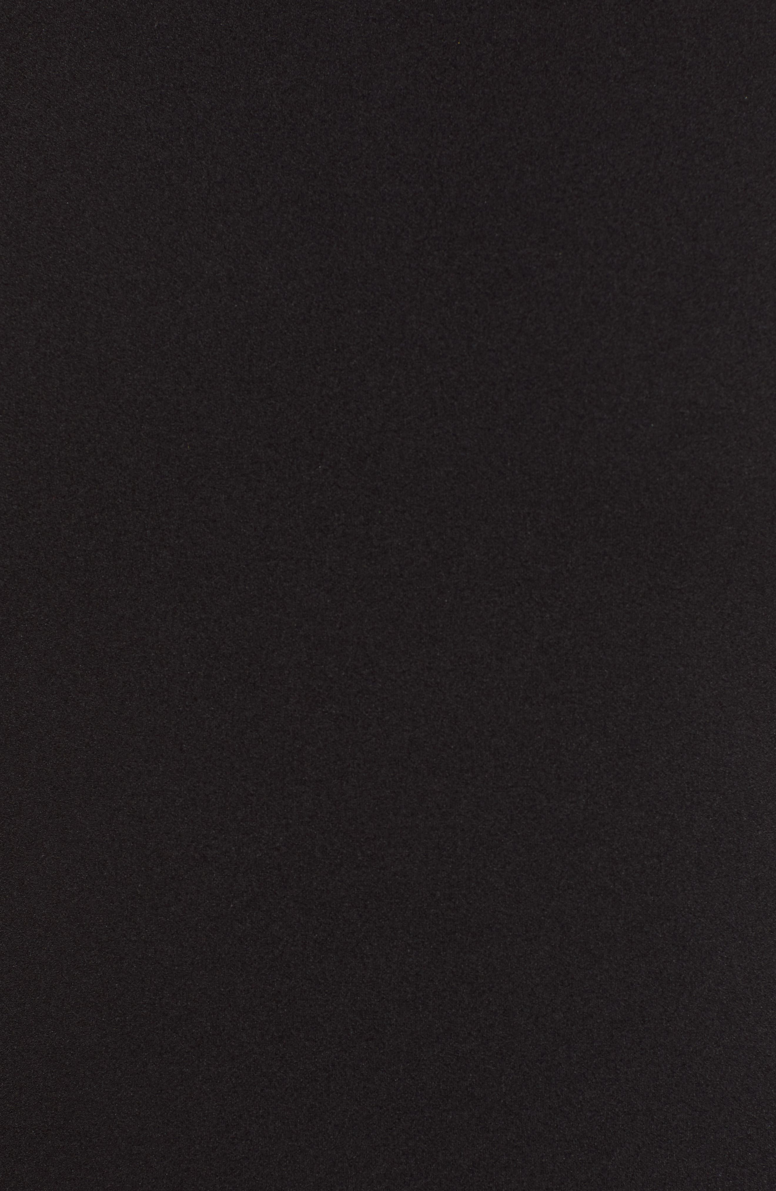 Mock Neck Body-Con Dress,                             Alternate thumbnail 6, color,                             BLACK