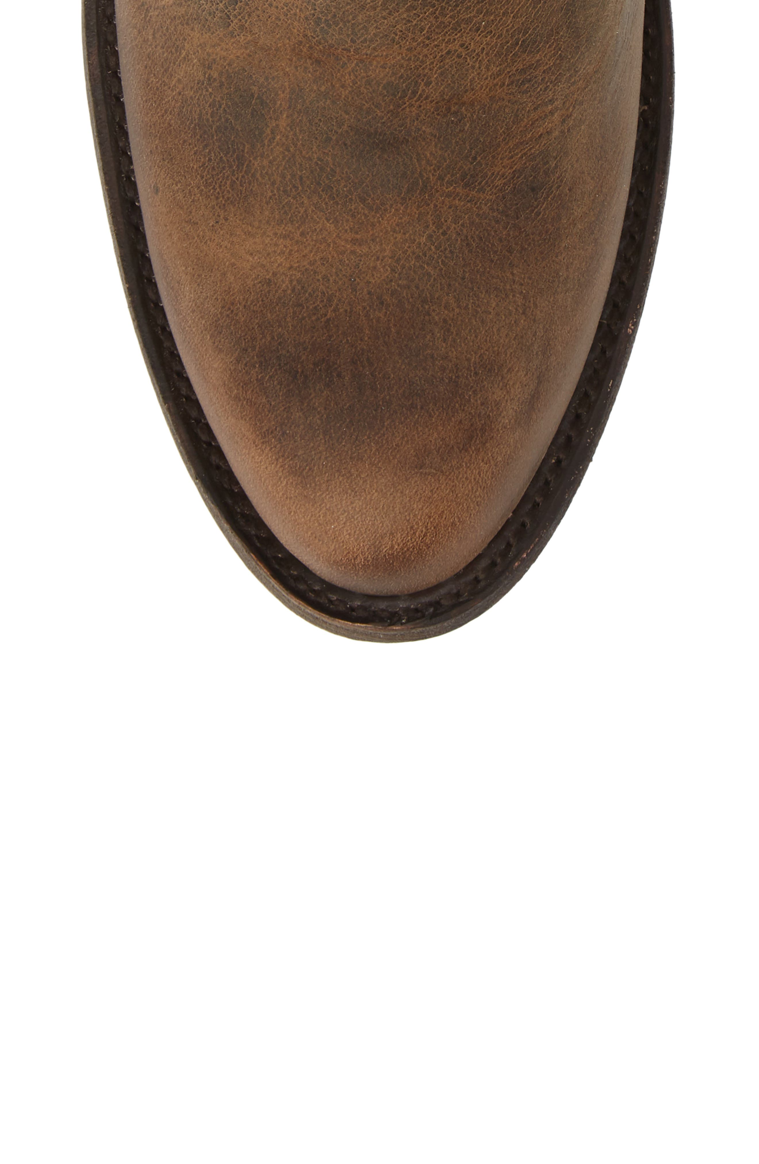 Plain Jane Western Boot,                             Alternate thumbnail 5, color,                             BROWN LEATHER