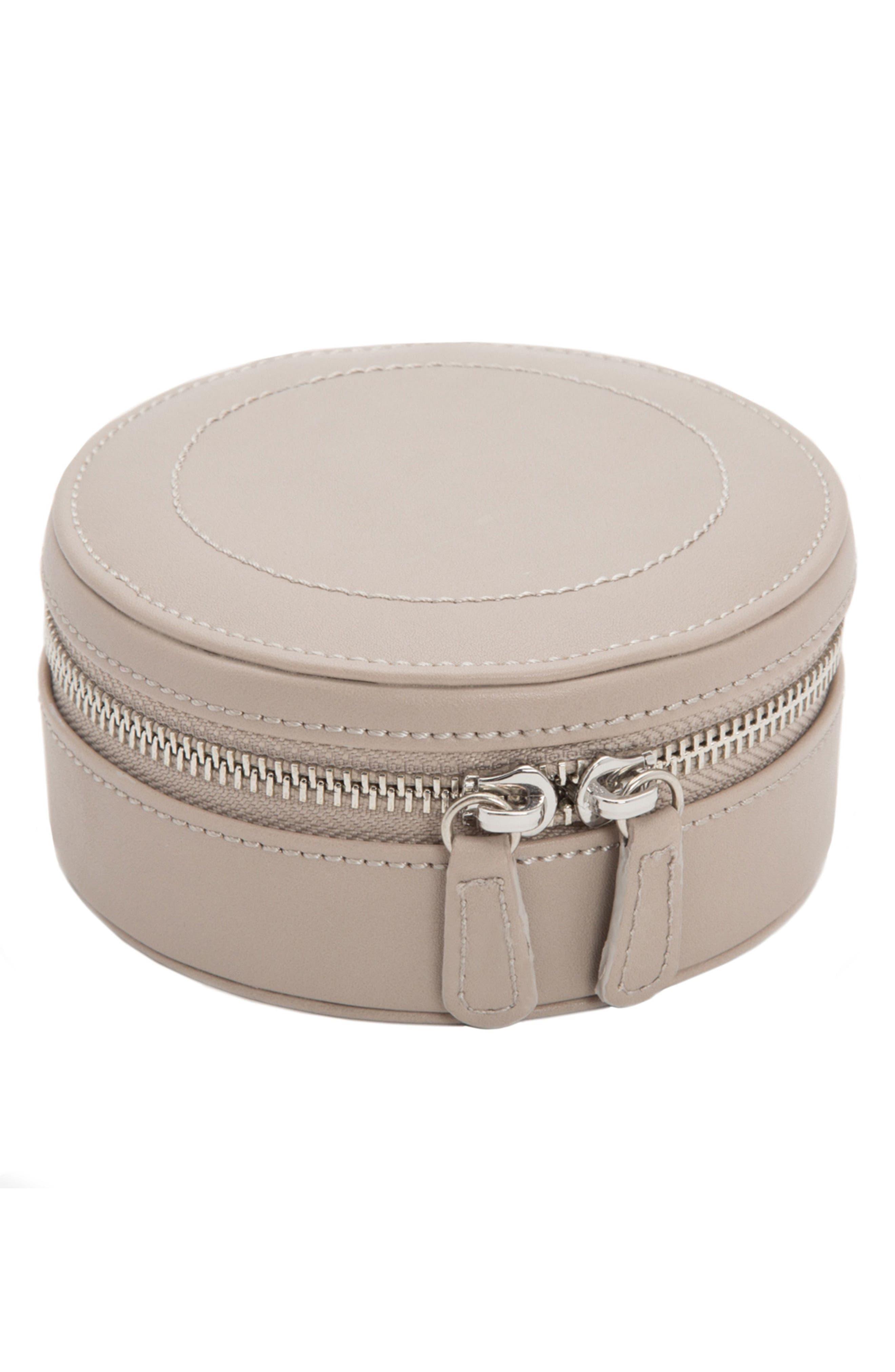 Sophia Round Zip Case,                         Main,                         color, MINK