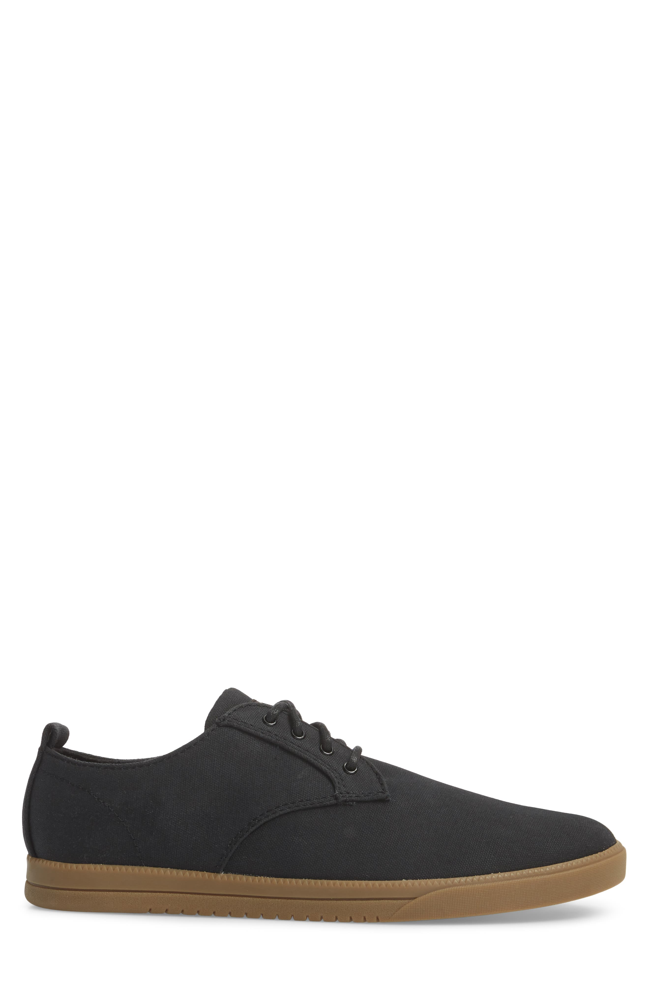 CLAE,                             Ellington Sneaker,                             Alternate thumbnail 3, color,                             BLACK WAXED CANVAS