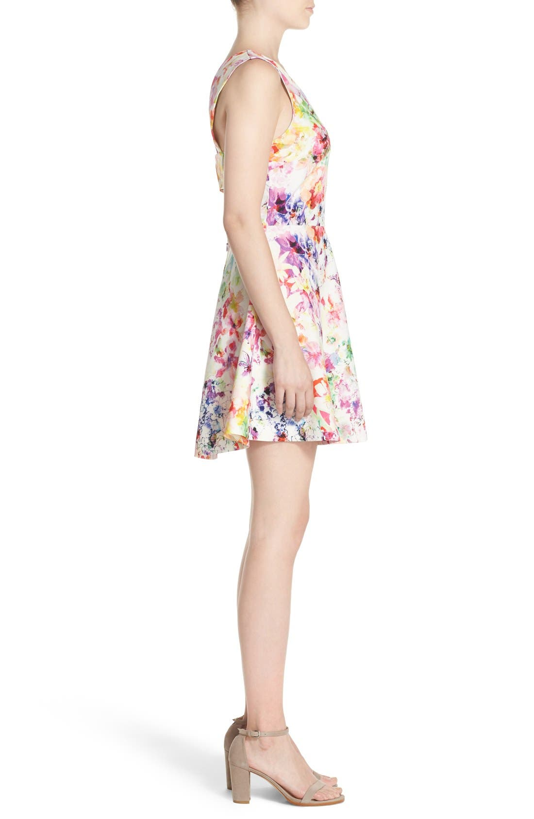 Bianca Back Cutout Fit & Flare Dress,                             Alternate thumbnail 40, color,