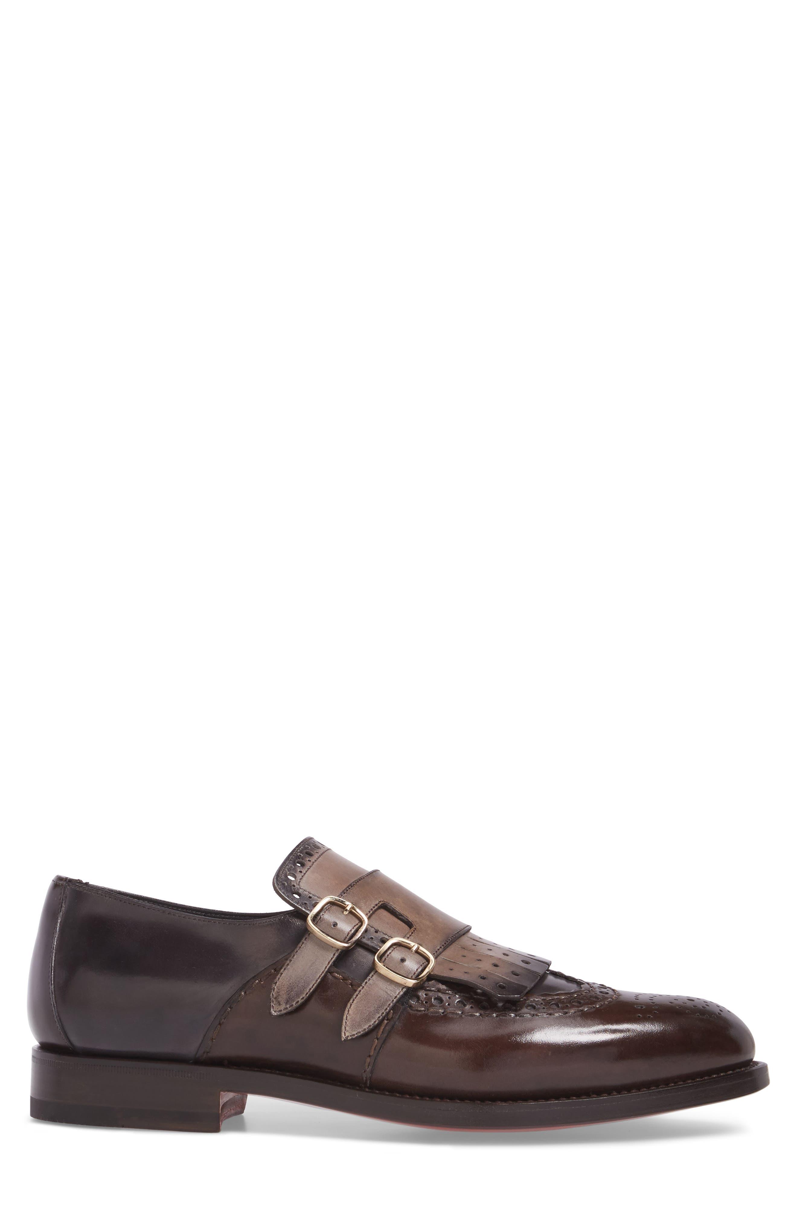 Goodwin Double Monk Strap Shoe,                             Alternate thumbnail 3, color,                             030