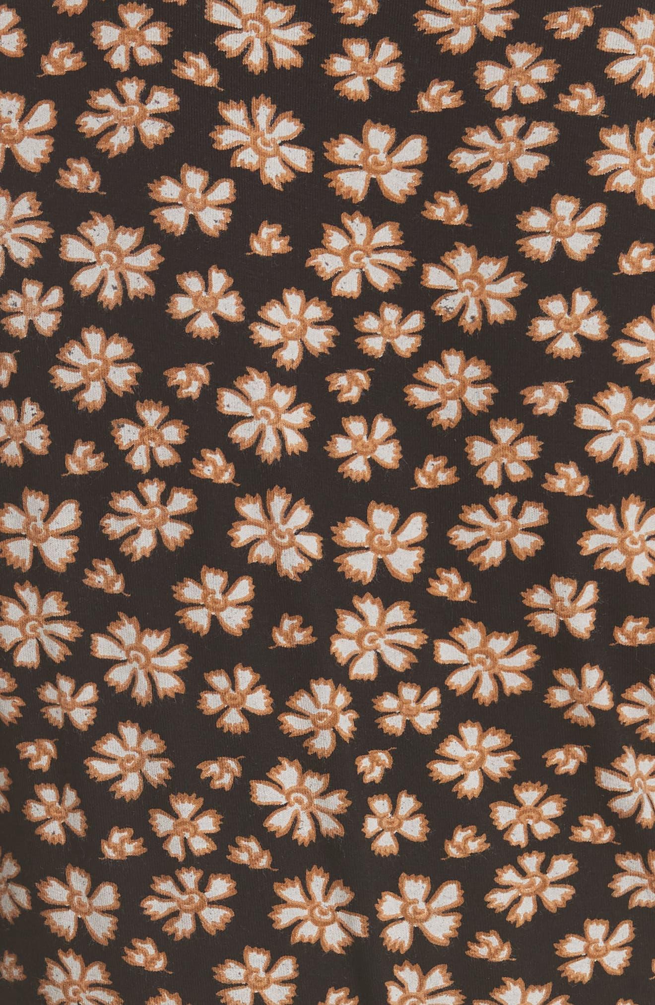 Pradera Floral Minidress,                             Alternate thumbnail 6, color,                             001
