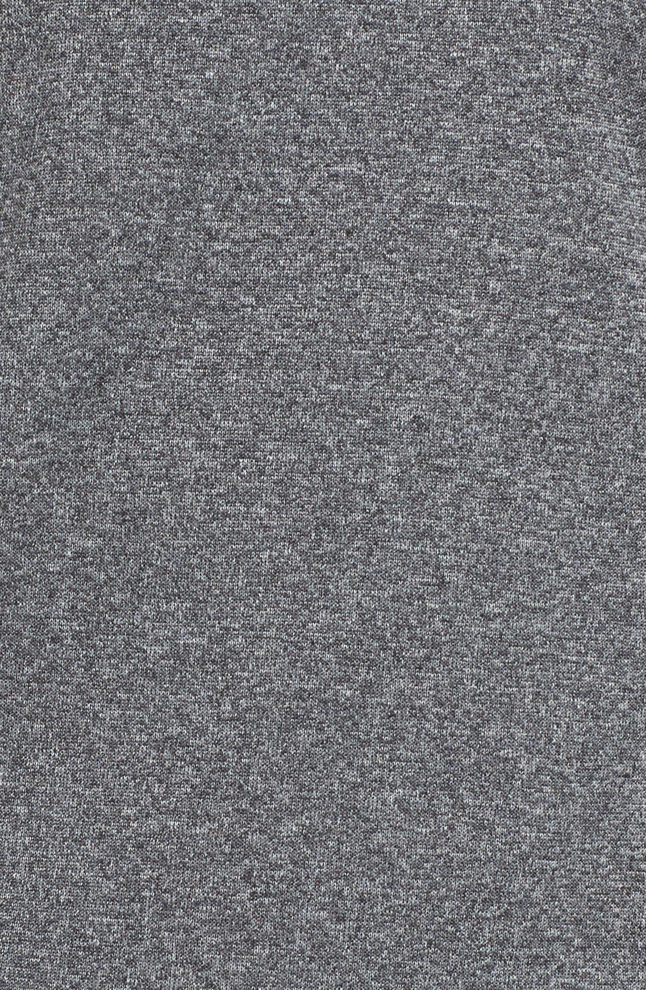 3-Stripes Running Sweatshirt,                             Alternate thumbnail 6, color,                             DARK GREY HEATHER