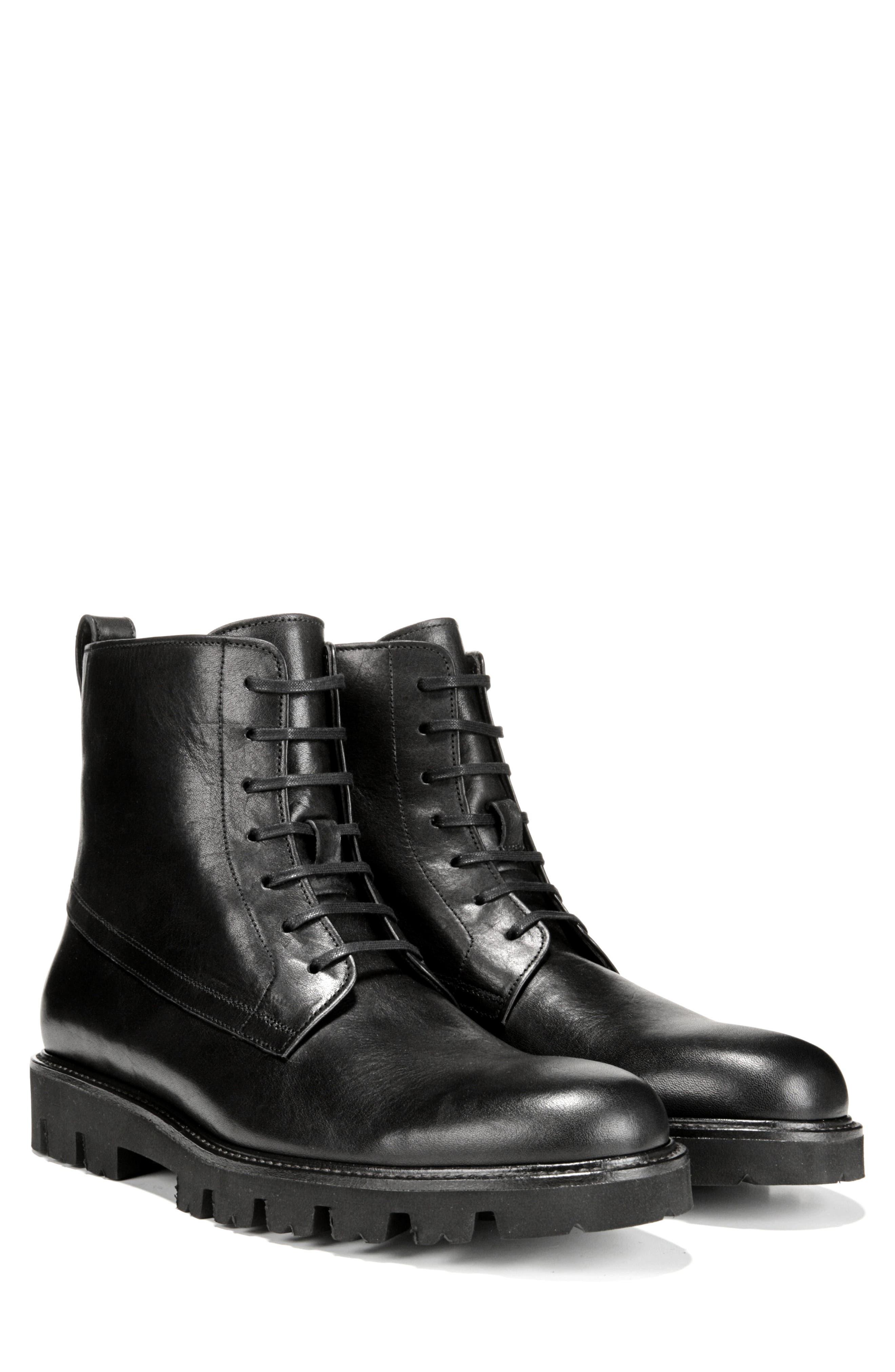 Commander Plain Toe Boot,                             Alternate thumbnail 9, color,                             BLACK