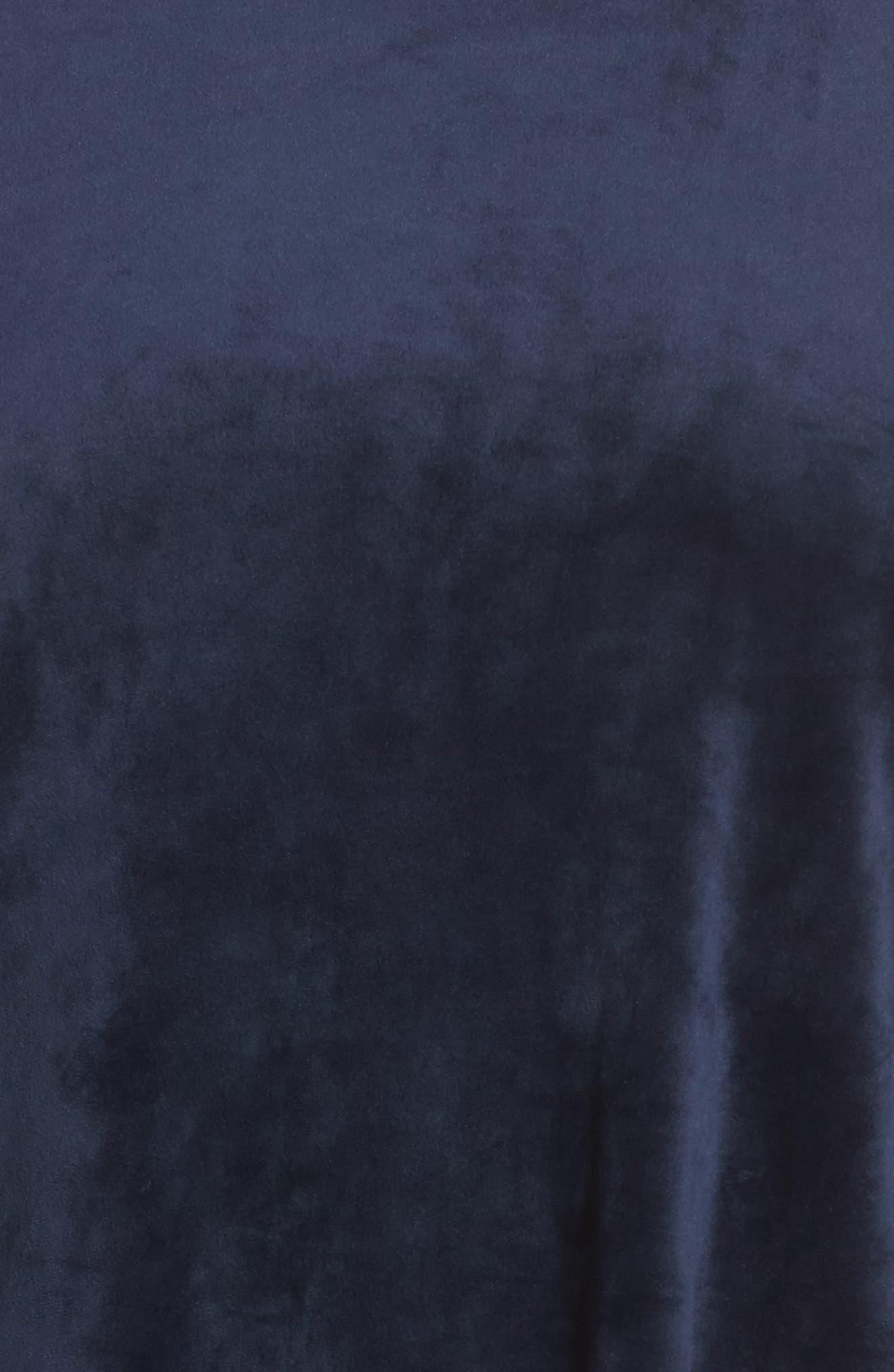 Side Tie Velour Top,                             Alternate thumbnail 5, color,                             461