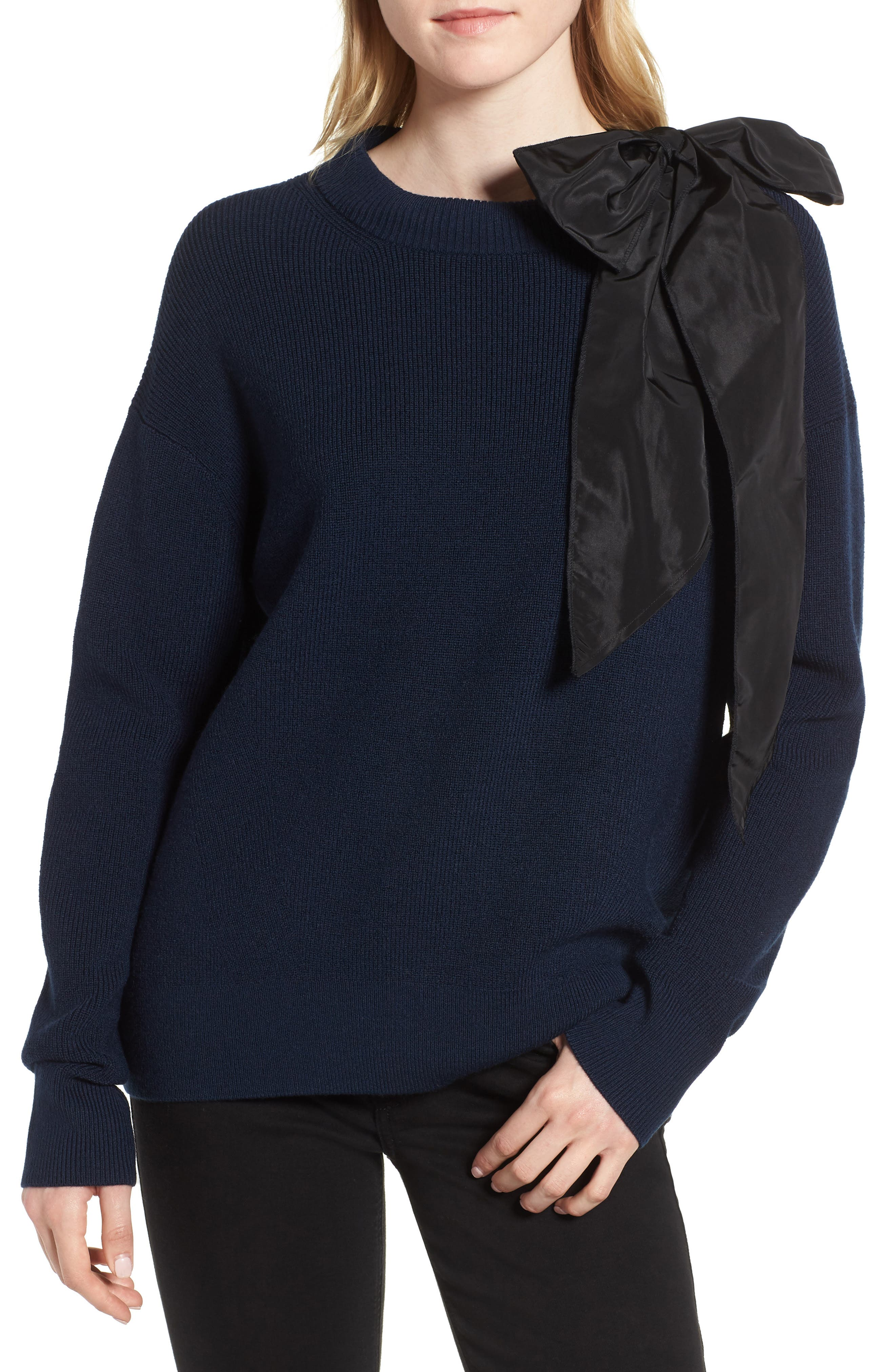 Bow Shoulder Sweater,                             Main thumbnail 1, color,                             410