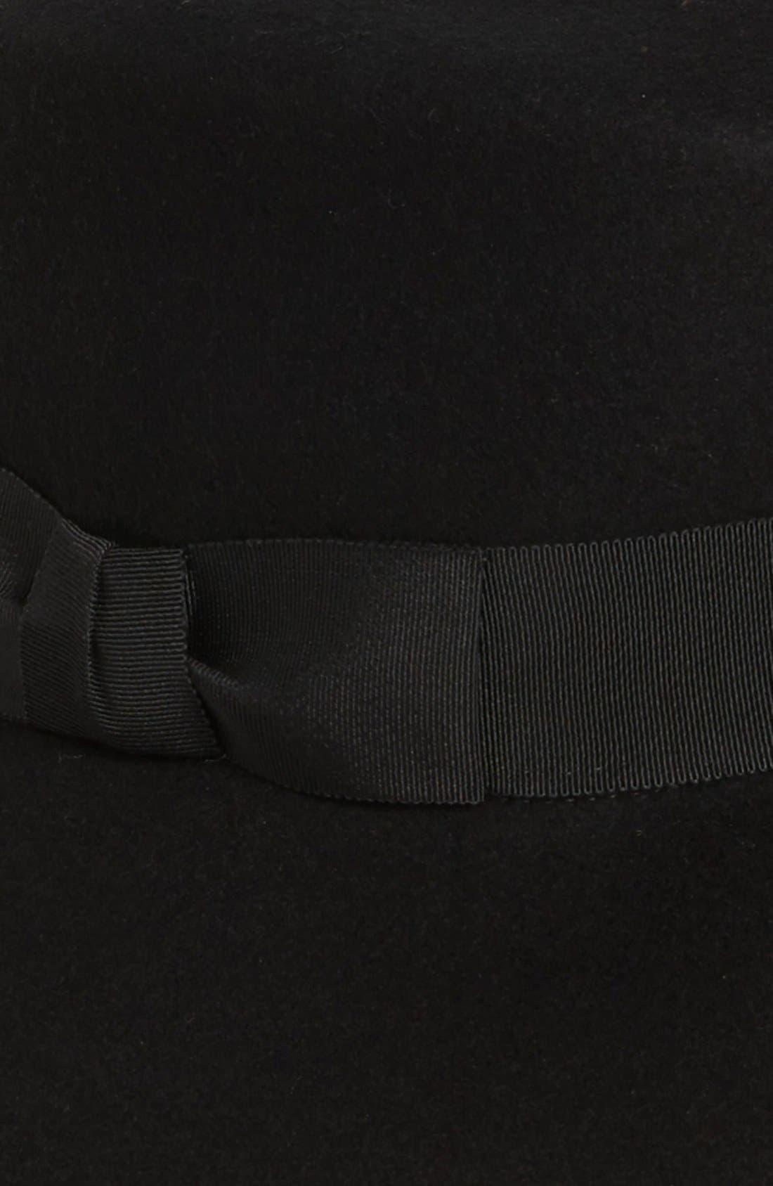 'Kim' Wool Fedora,                             Alternate thumbnail 2, color,                             001