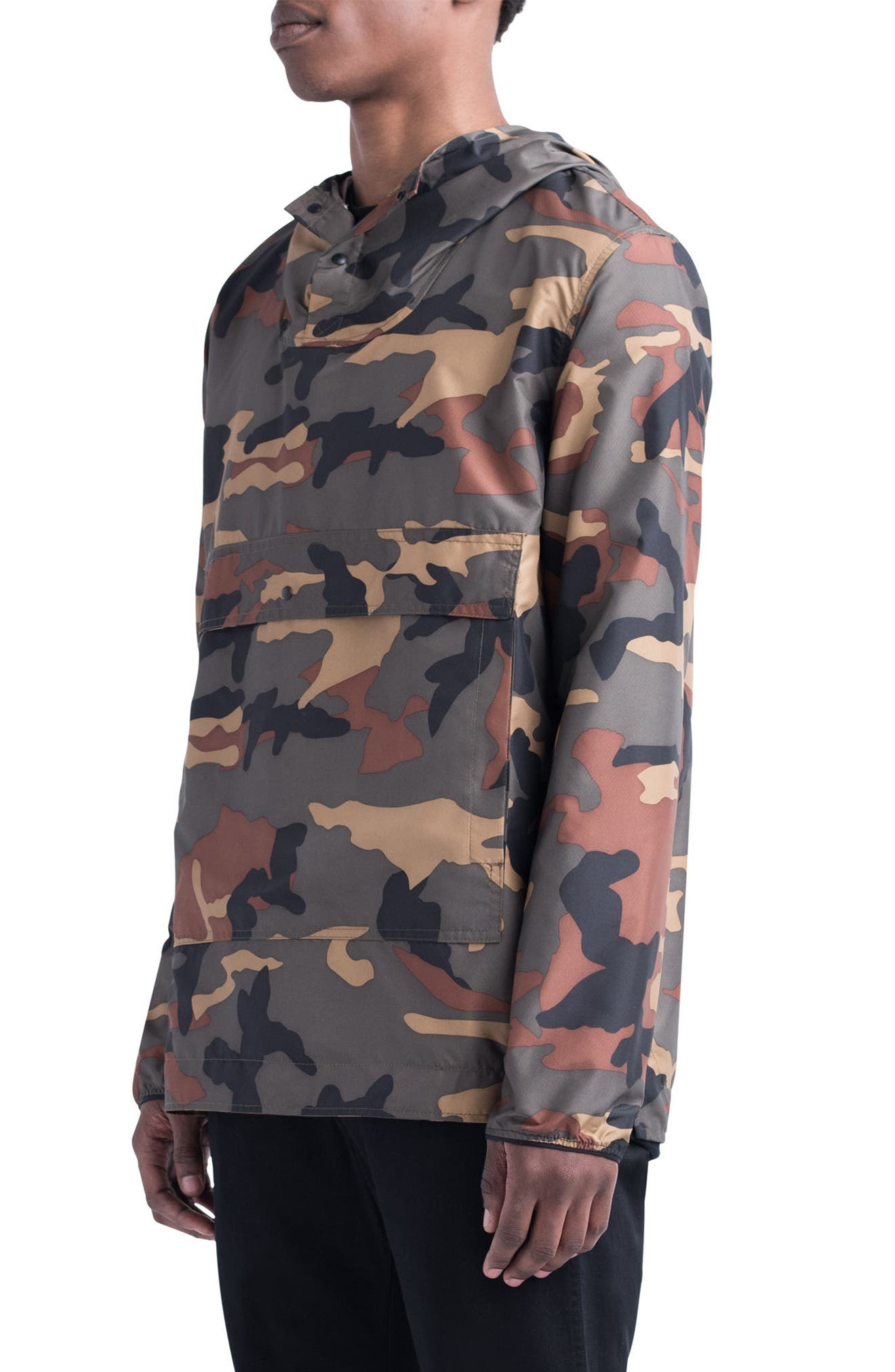 Voyage Anorak,                             Alternate thumbnail 3, color,                             WOODLAND CAMO