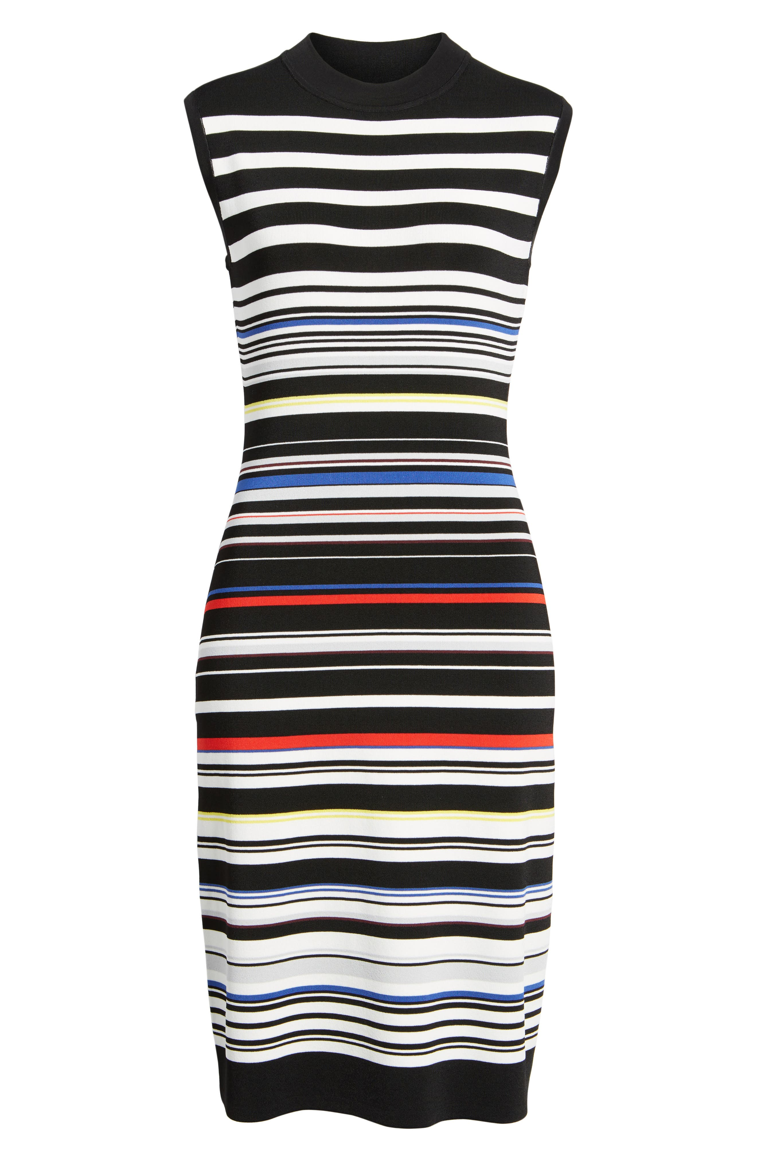 Sleeveless Mock Neck Knit Dress,                             Alternate thumbnail 36, color,