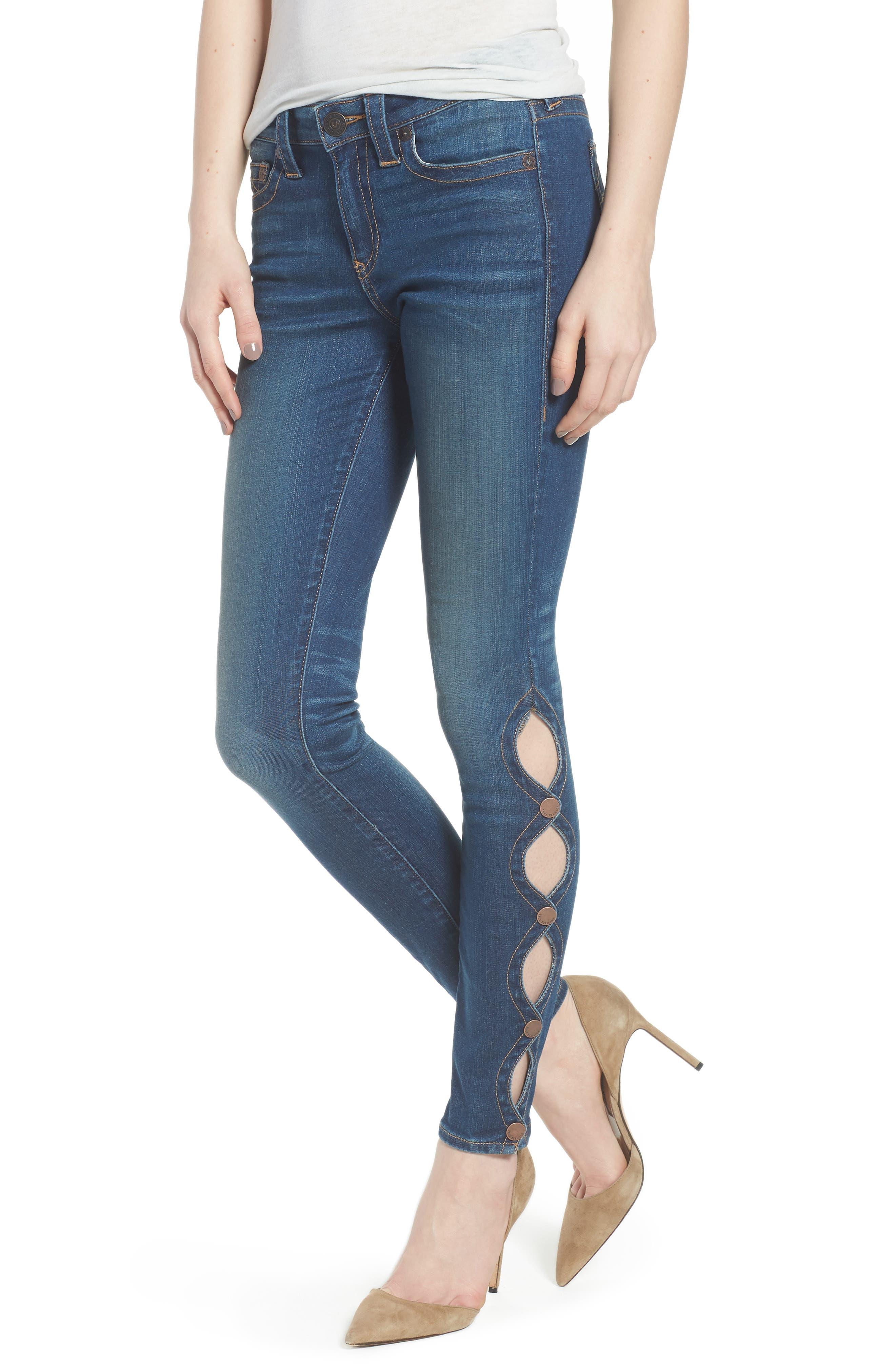 Halle Super Skinny Jeans,                             Main thumbnail 1, color,