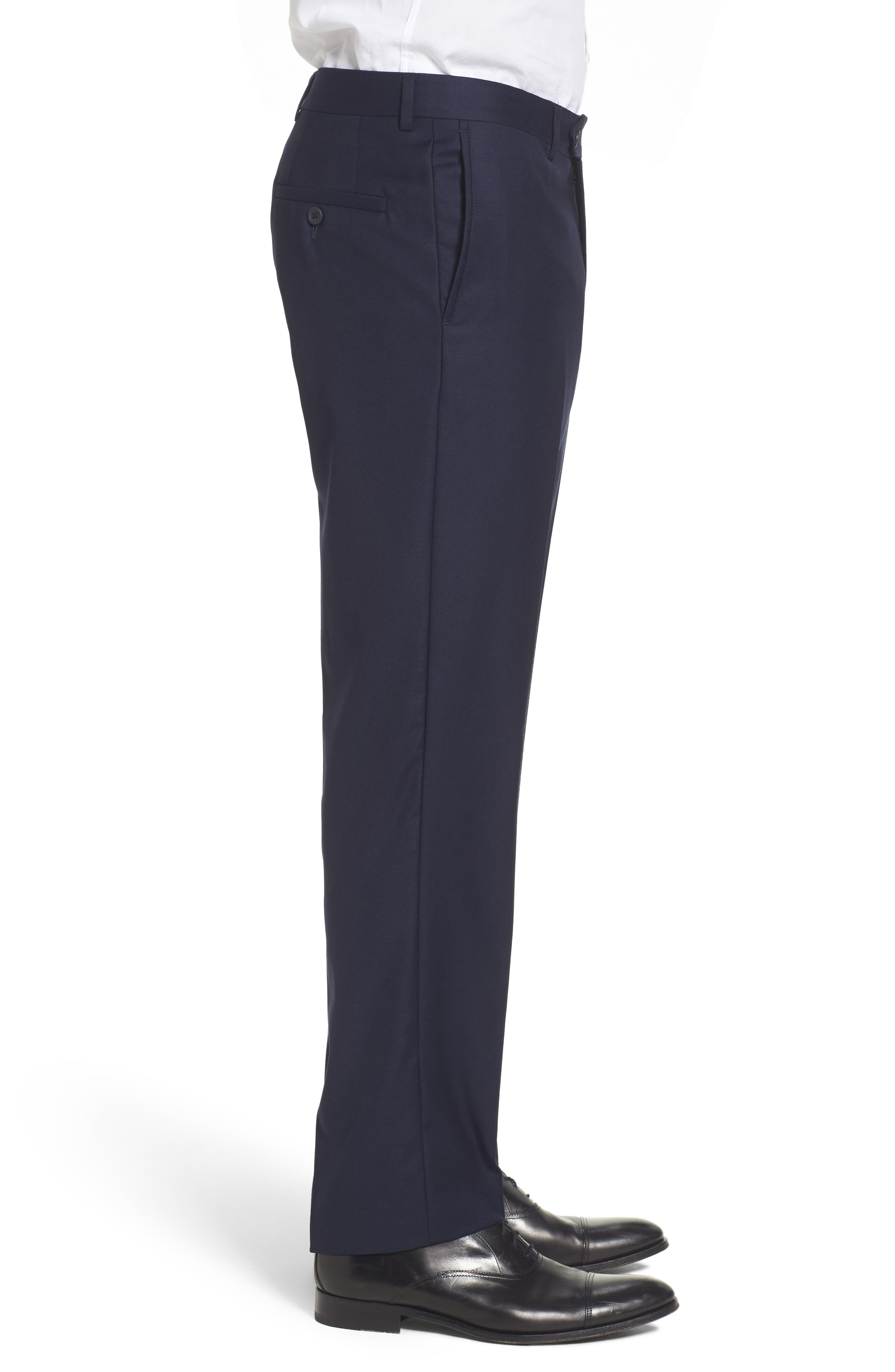Flat Front Solid Wool Trousers,                             Alternate thumbnail 24, color,