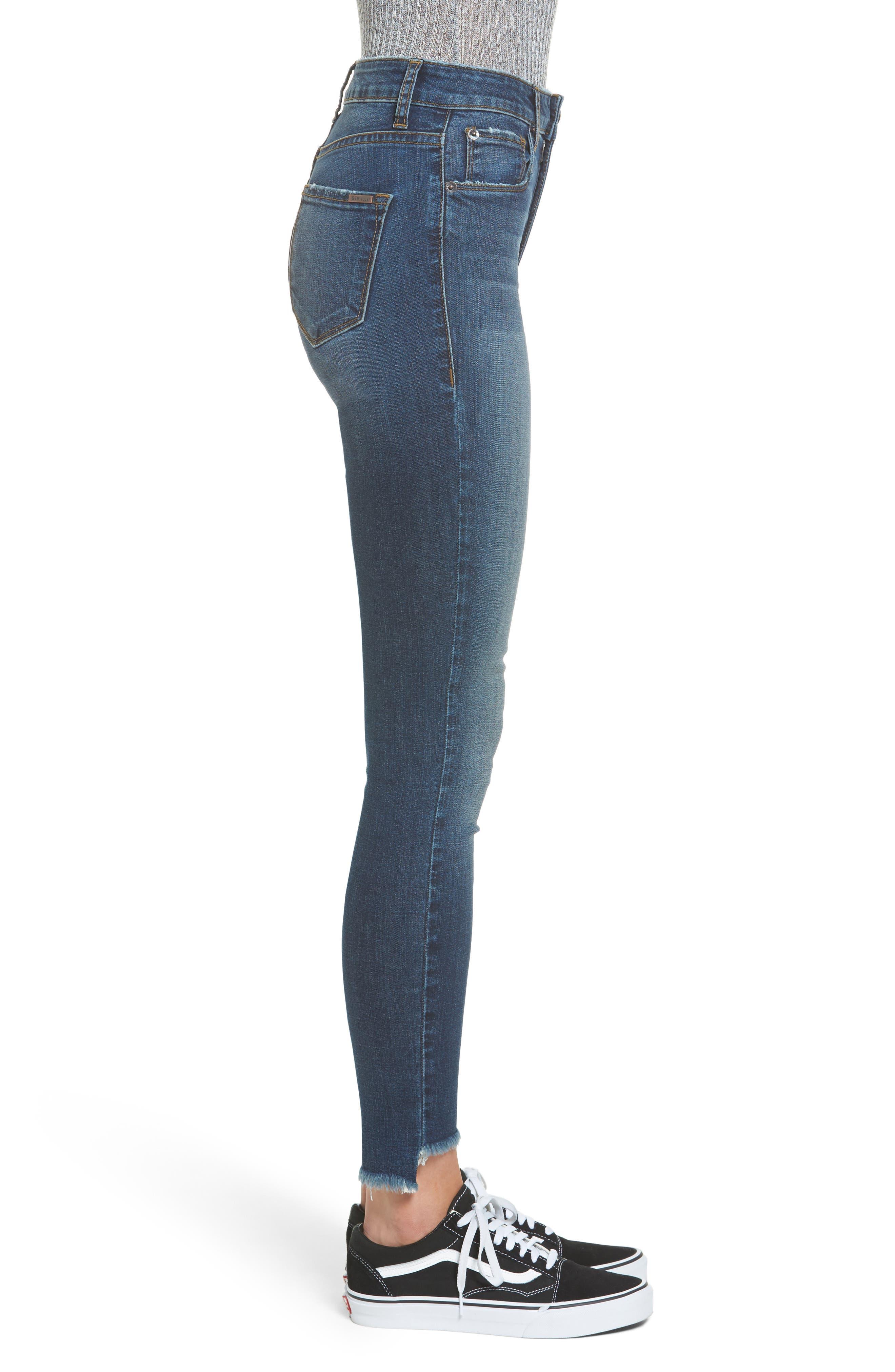 Ellie Step Hem Skinny Jeans,                             Alternate thumbnail 3, color,                             400