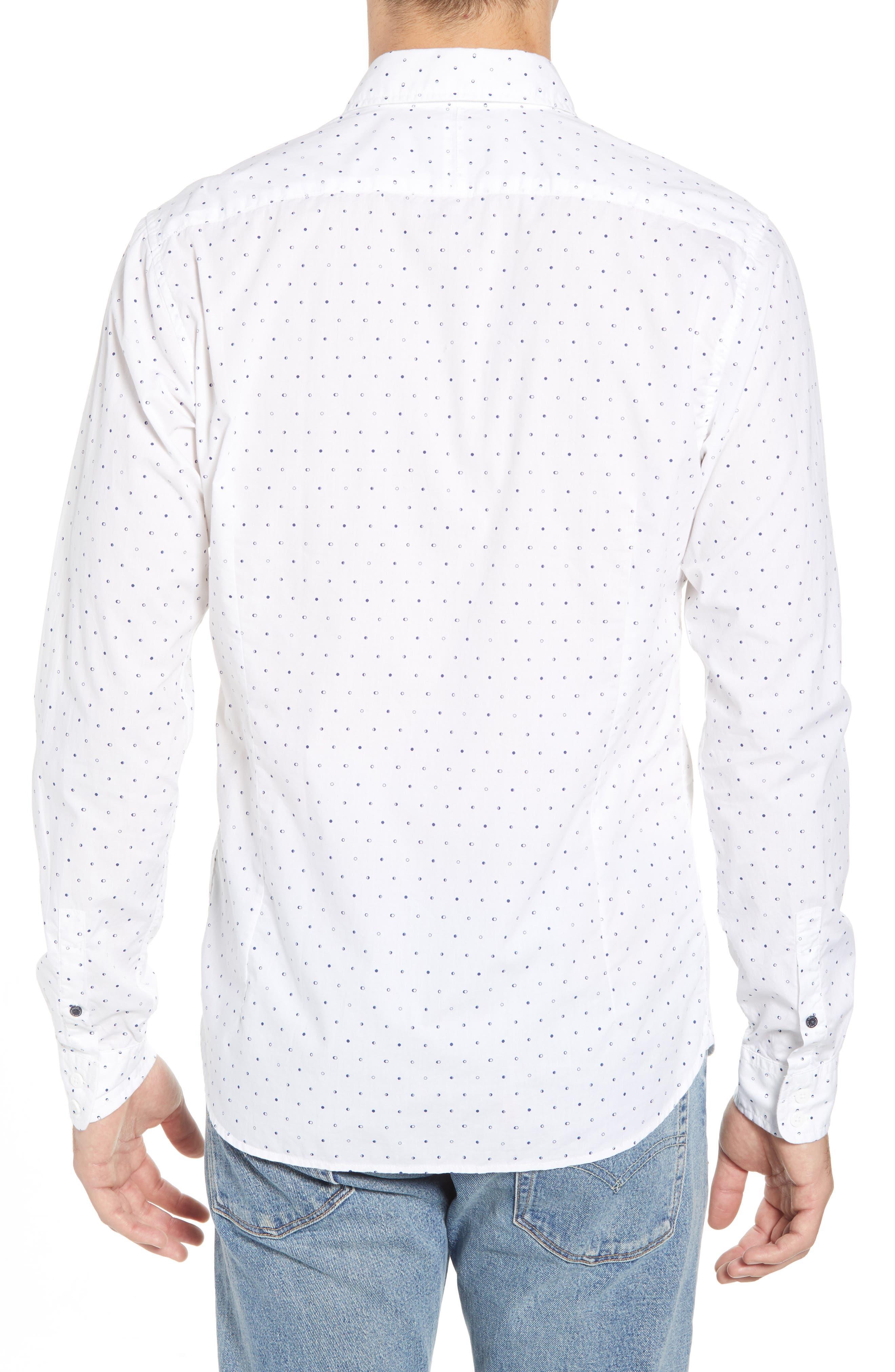 Amsterdams Blauw Simple Light Print Sport Shirt,                             Alternate thumbnail 2, color,                             110