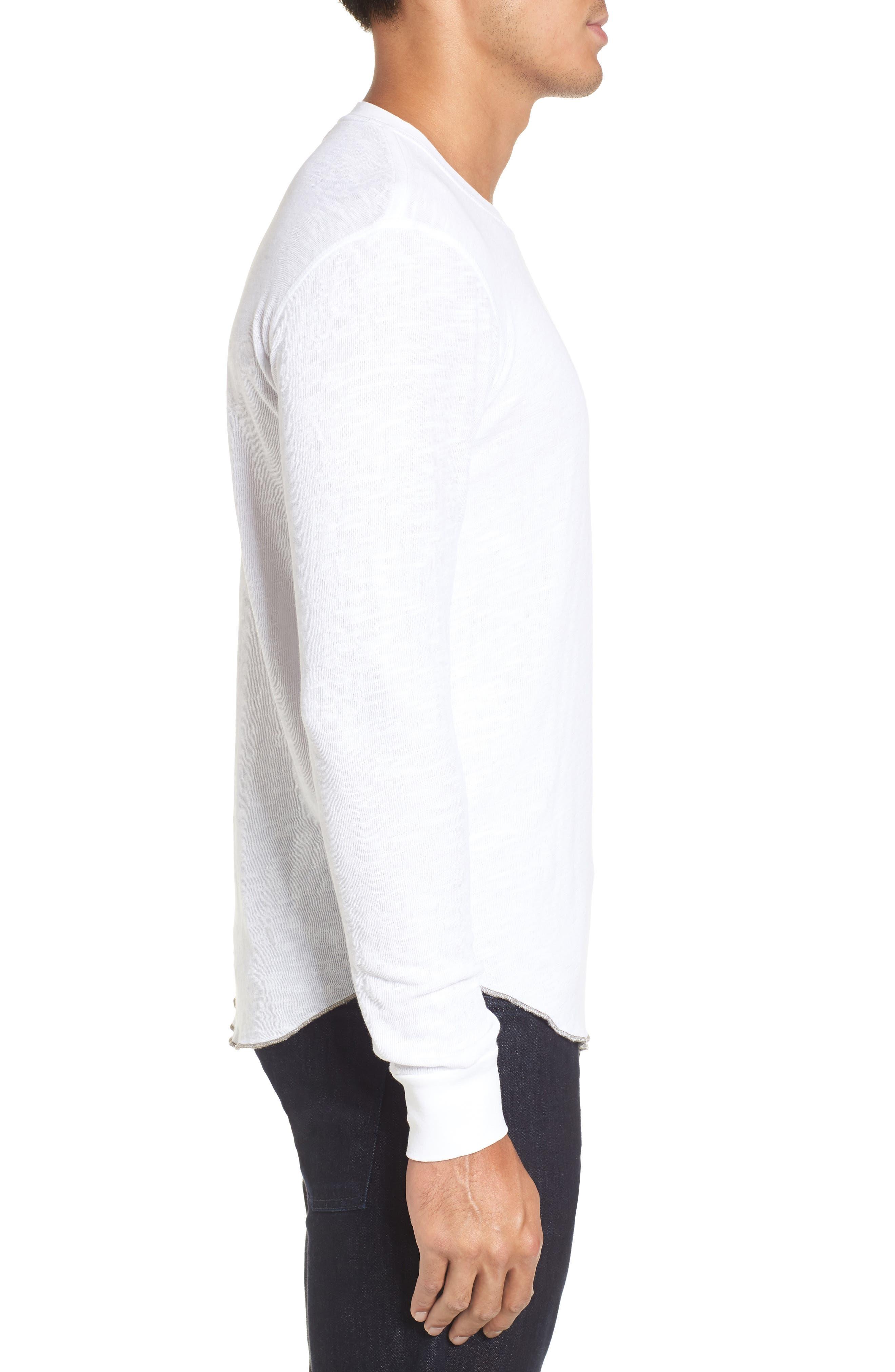 Double Layer Slim Crewneck T-Shirt,                             Alternate thumbnail 18, color,