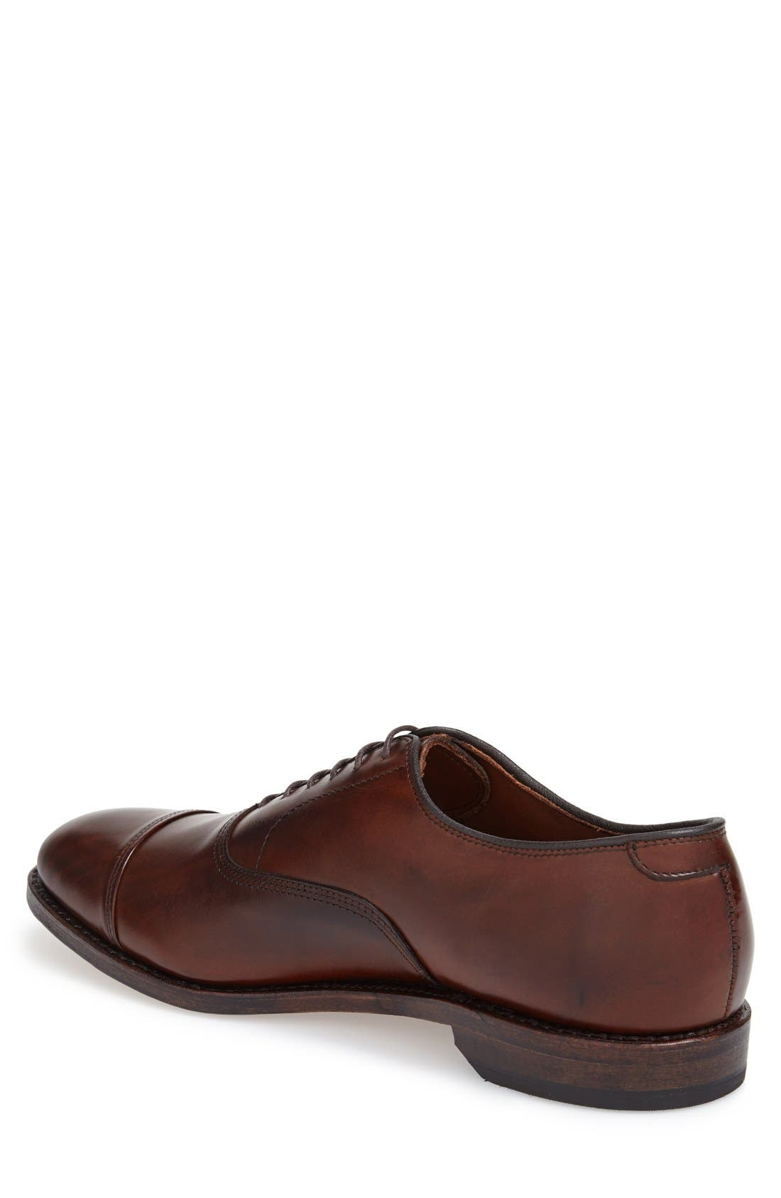 'Park Avenue' Cap Toe Oxford,                             Alternate thumbnail 2, color,                             DARK CHILI BURNISHED