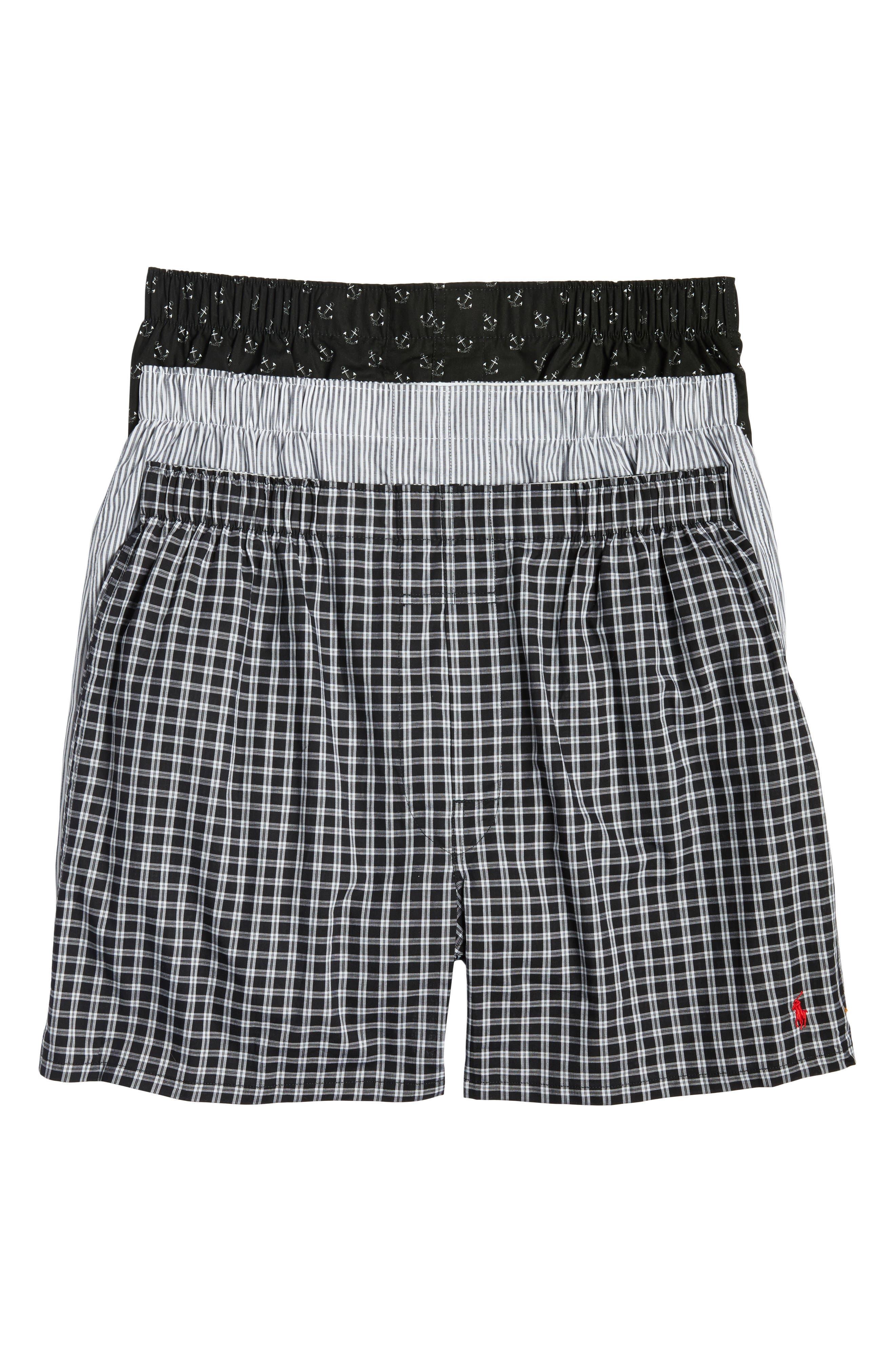 3-Pack Cotton Boxers,                         Main,                         color, 001