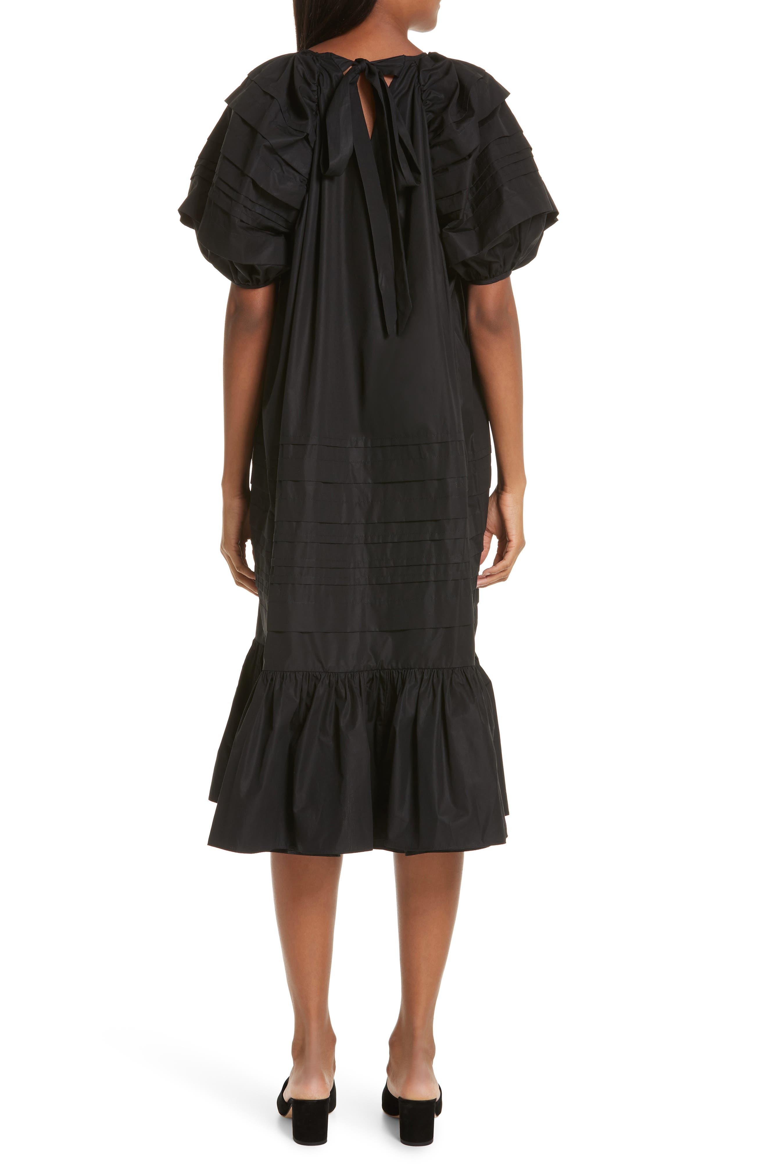 CECILIE BAHNSEN,                             Phoebe Dress,                             Alternate thumbnail 2, color,                             BLACK