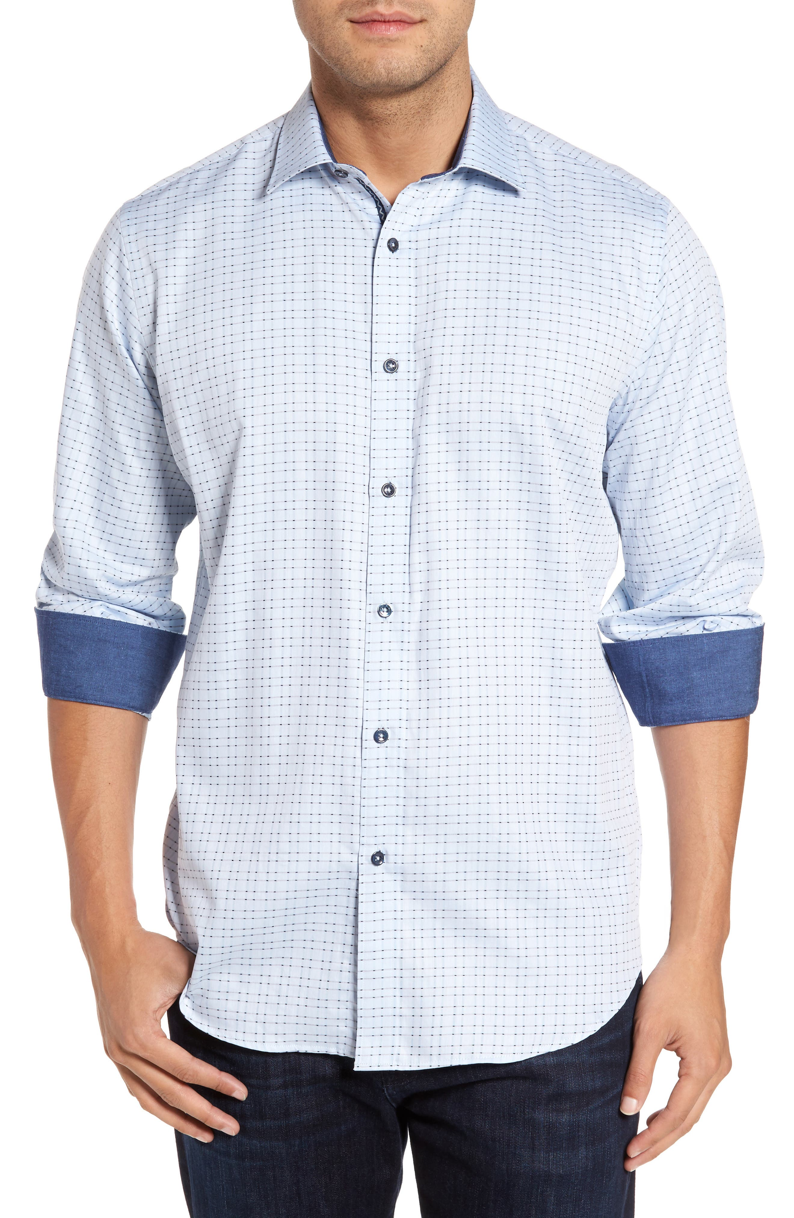 Classic Fit Check Sport Shirt,                         Main,                         color, 459