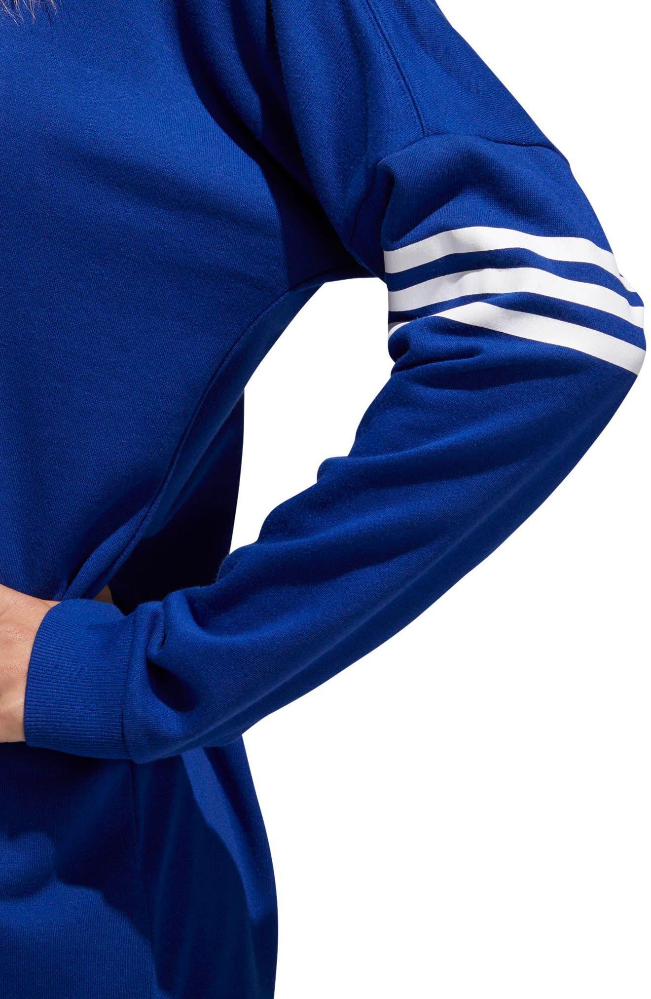 adidas Oversize Crewneck Sweatshirt,                             Alternate thumbnail 8, color,                             MYSTERY INK