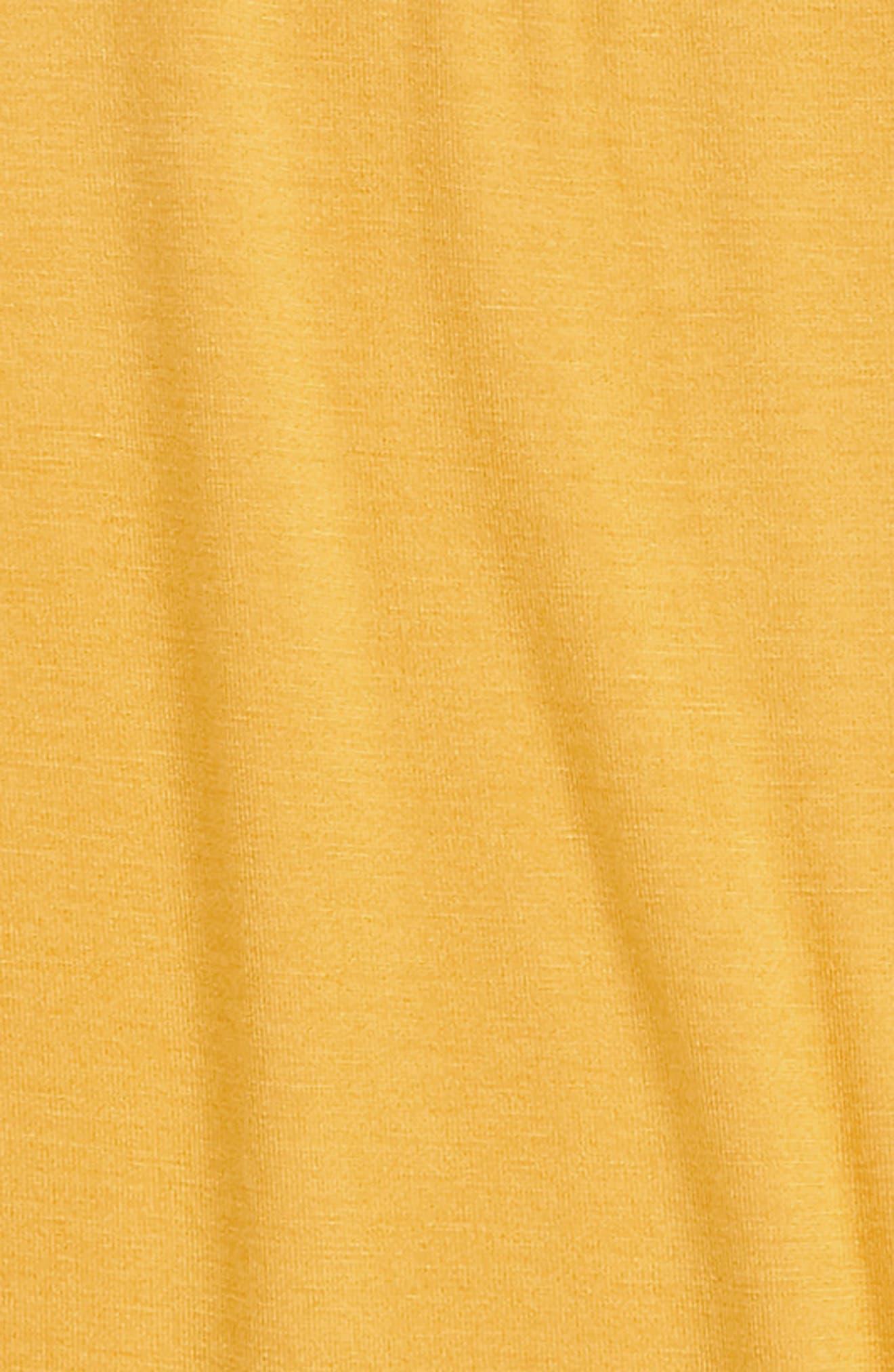 Tie Front Tee,                             Alternate thumbnail 2, color,                             MUSTARD