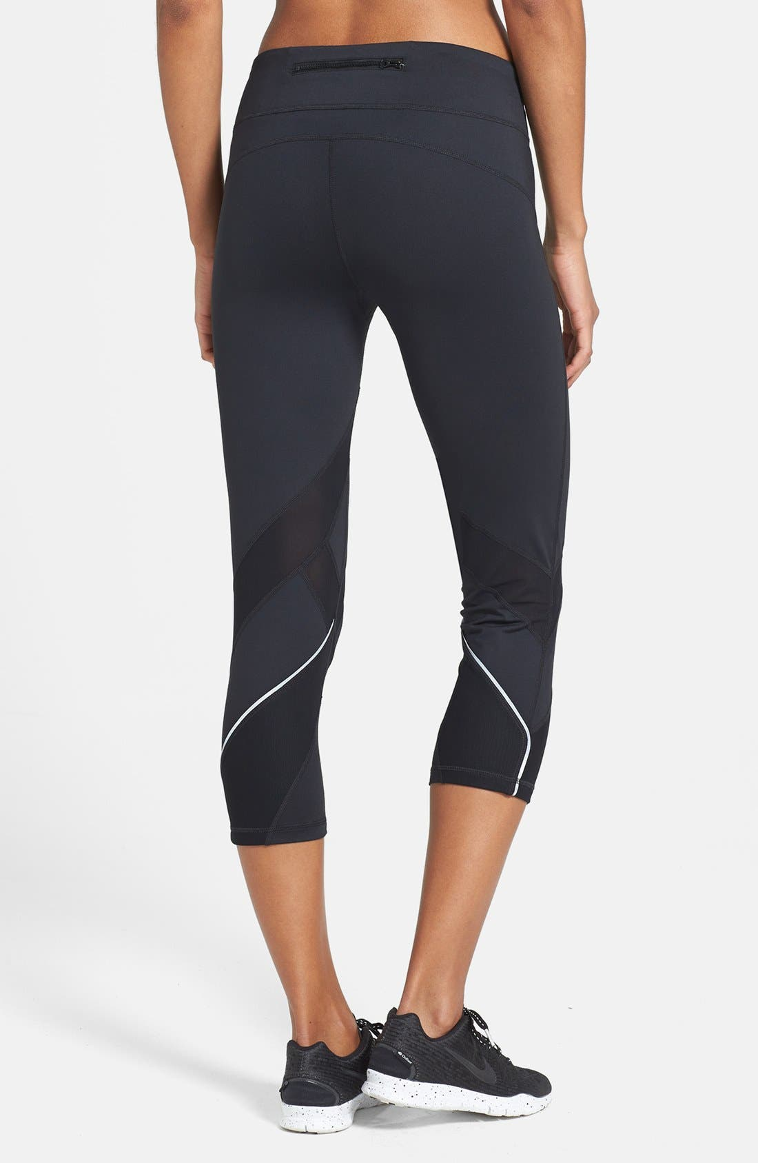 'Bees Knees' Slim Fit Running Capris,                             Alternate thumbnail 2, color,                             001