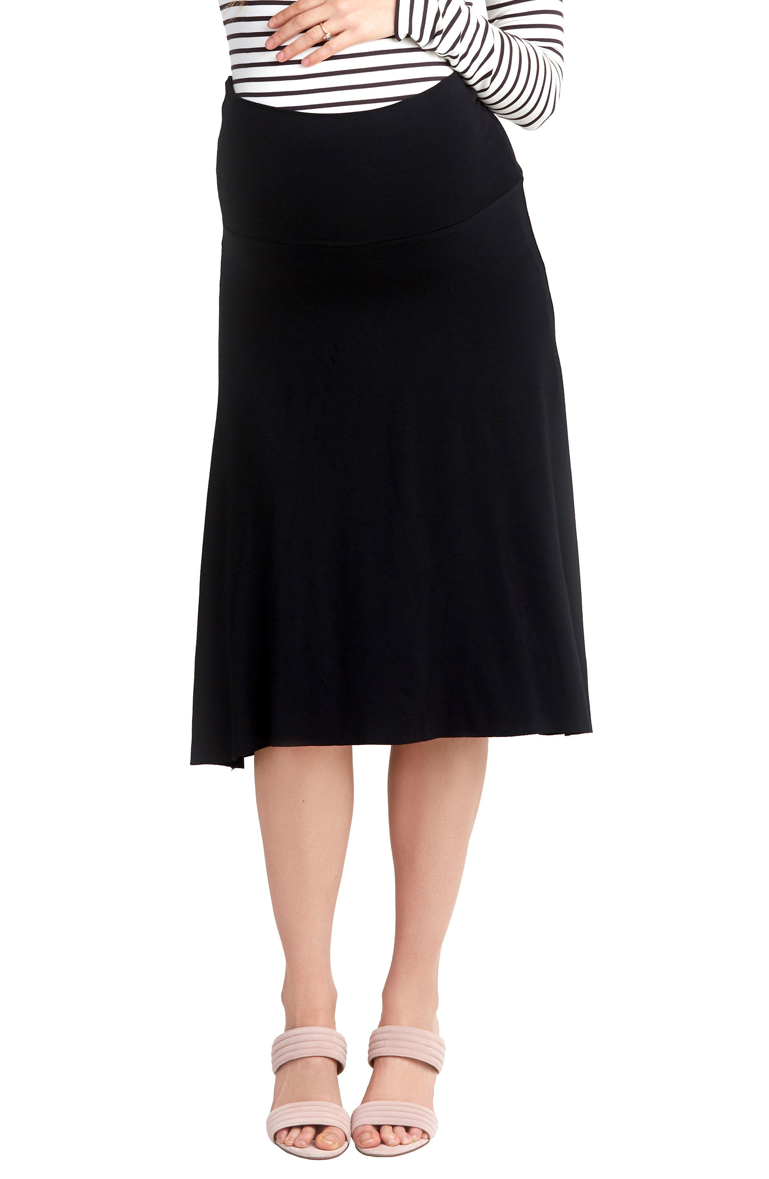 NOM Nola Maternity Skirt, Main, color, BLACK