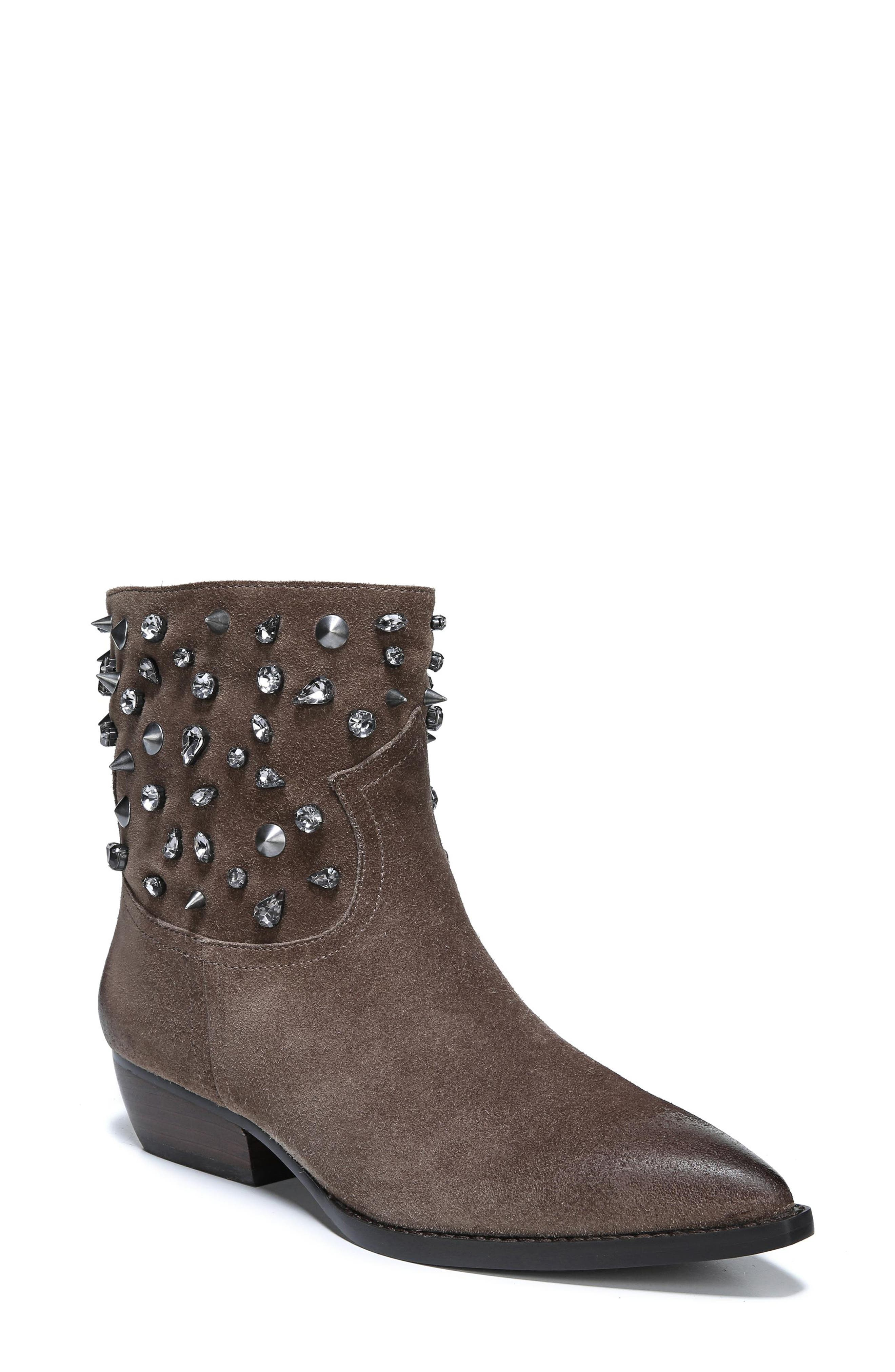 Sam Edelman Avril Embellished Bootie, Brown